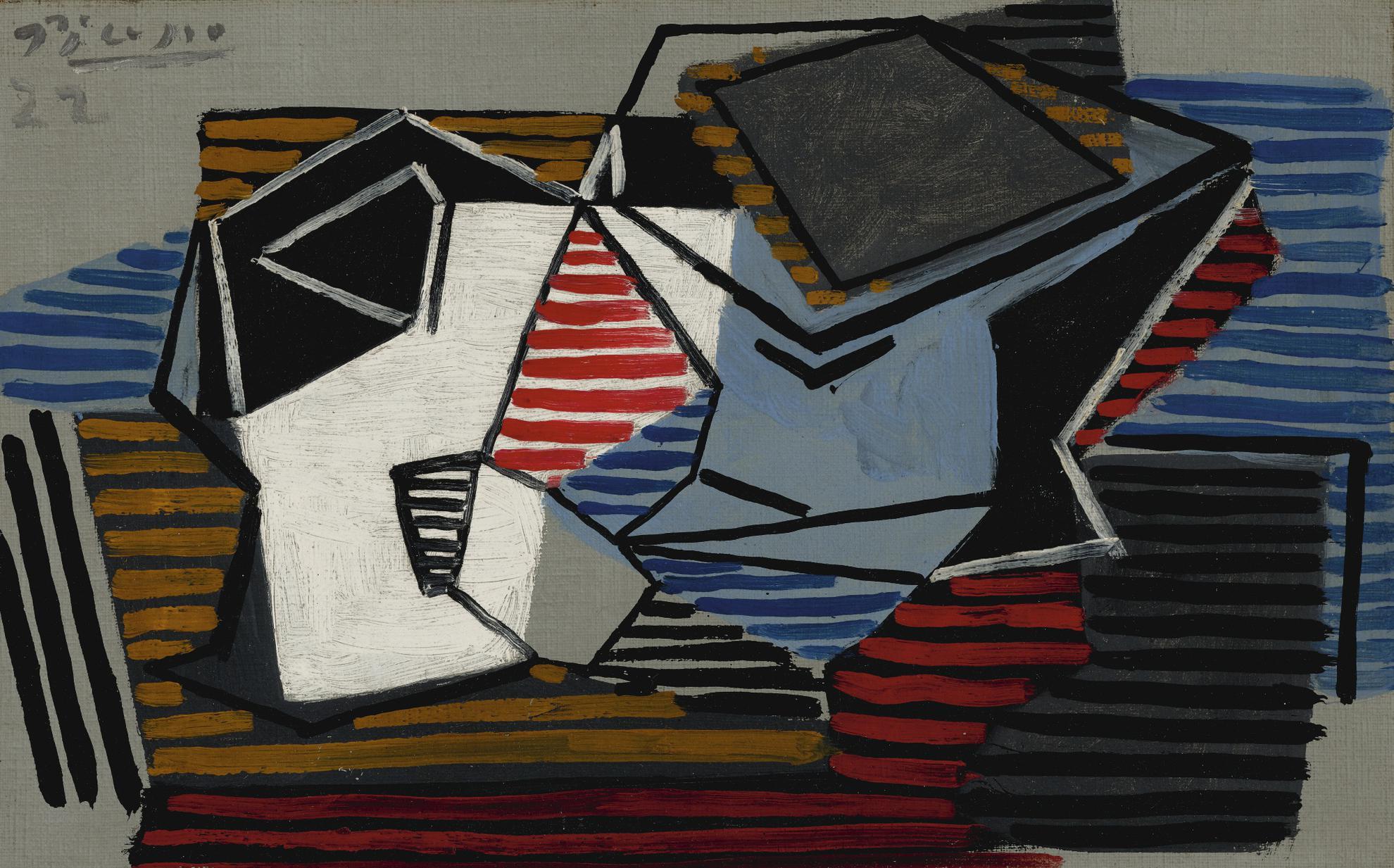 Pablo Picasso-Verre Et Compotier-1922
