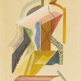 Alexander Archipenko-Composition Cubiste