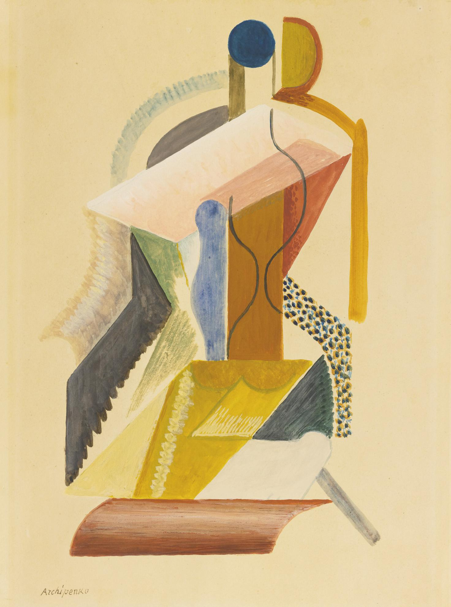 Alexander Archipenko-Composition Cubiste-
