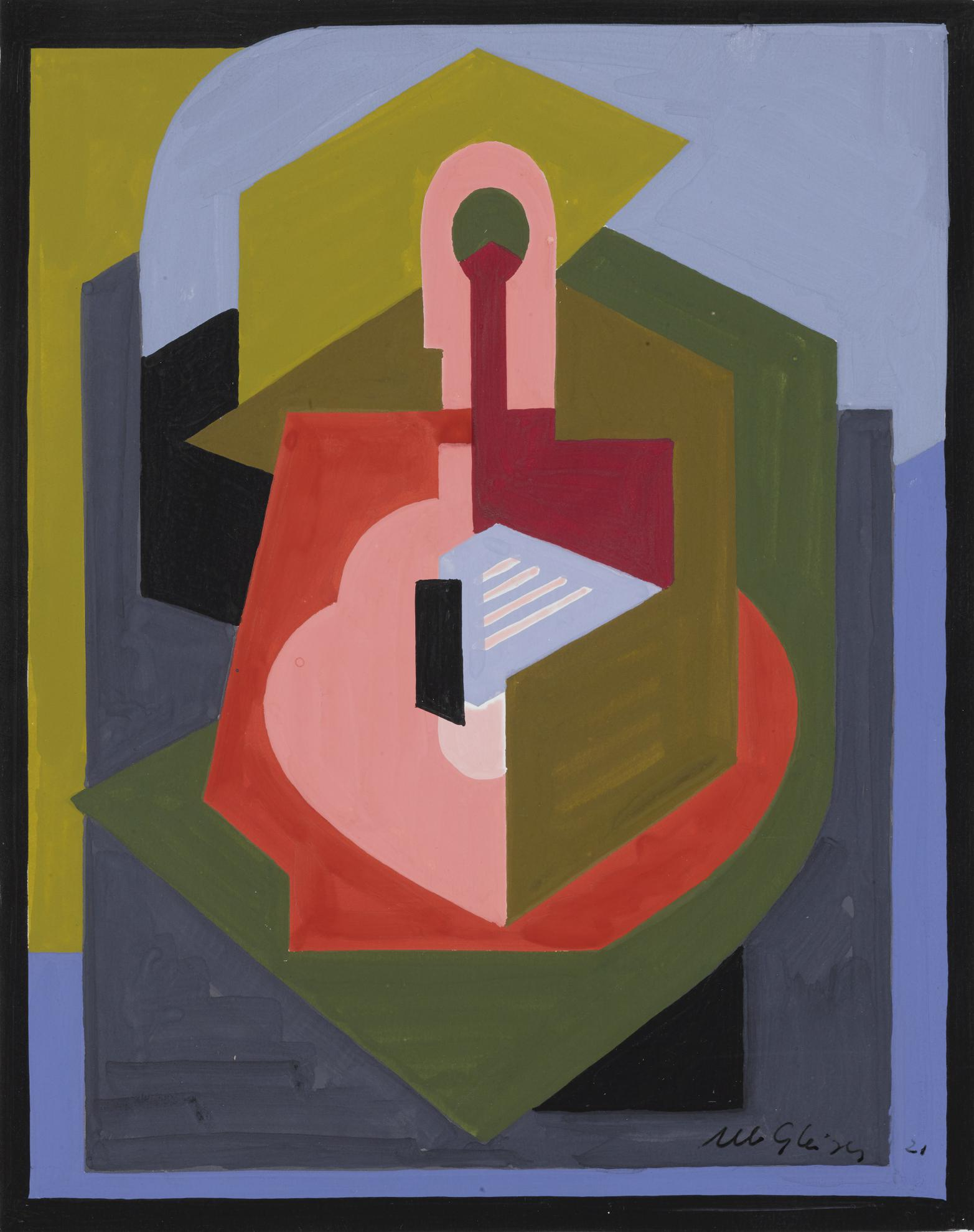 Albert Gleizes-Composition Rose Et Mauve-1921