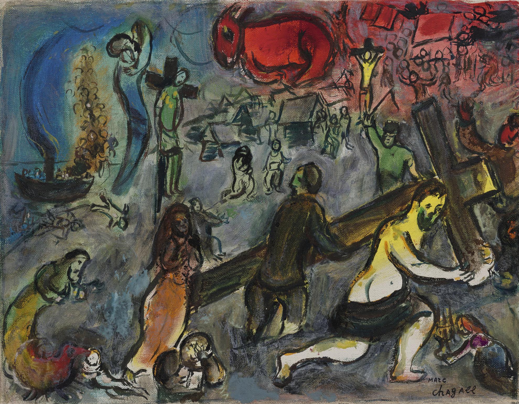 Marc Chagall-Deposition De Croix-1960