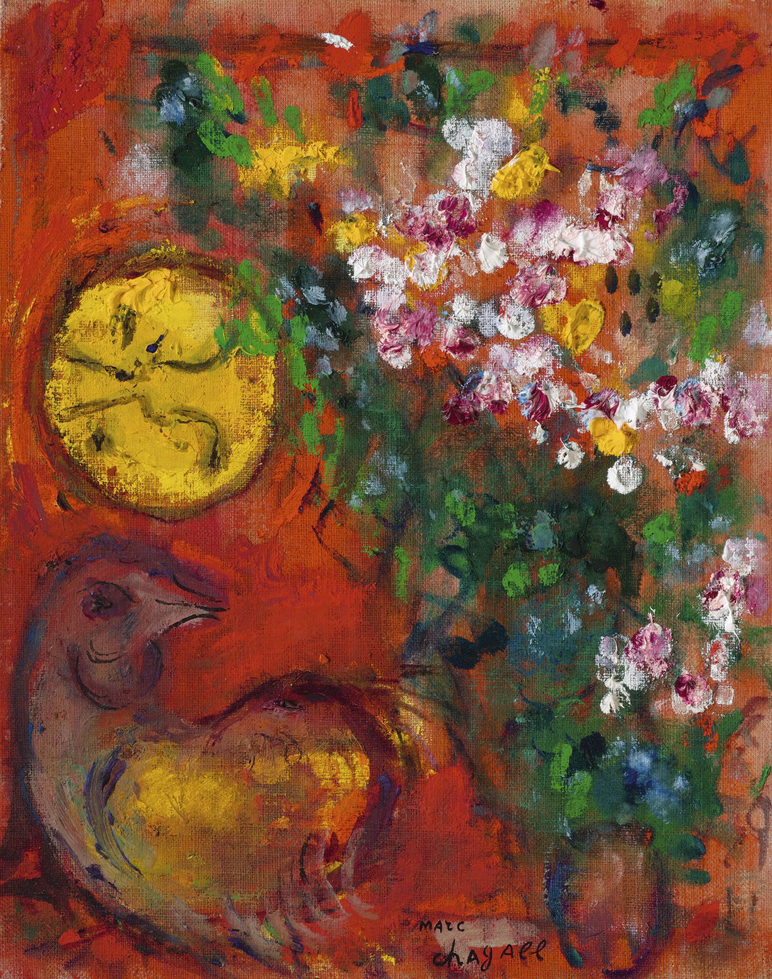 Marc Chagall-Bouquet Au Soleil Jaune-1965