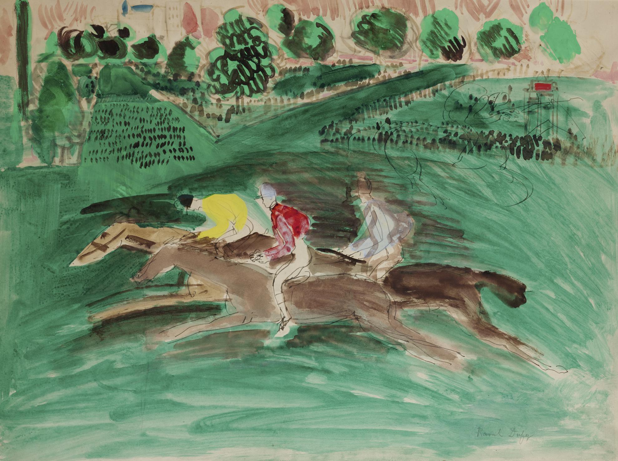 Raoul Dufy-La Course A Auteuil-