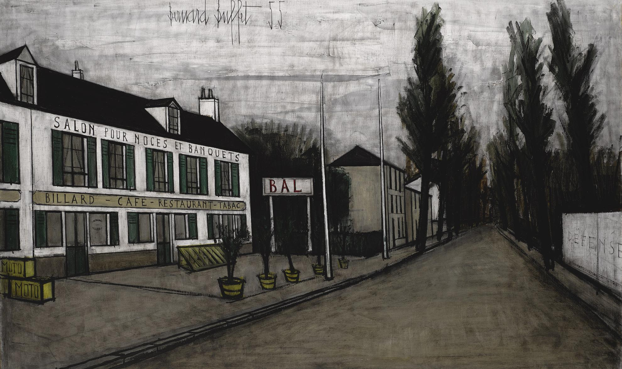 Bernard Buffet-Cafe De Village-1955