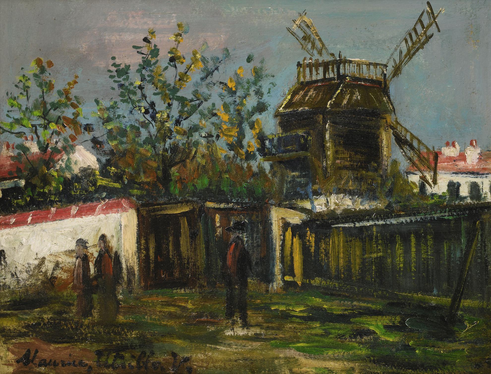 Maurice Utrillo-Moulin De La Galette, Montmartre-1922