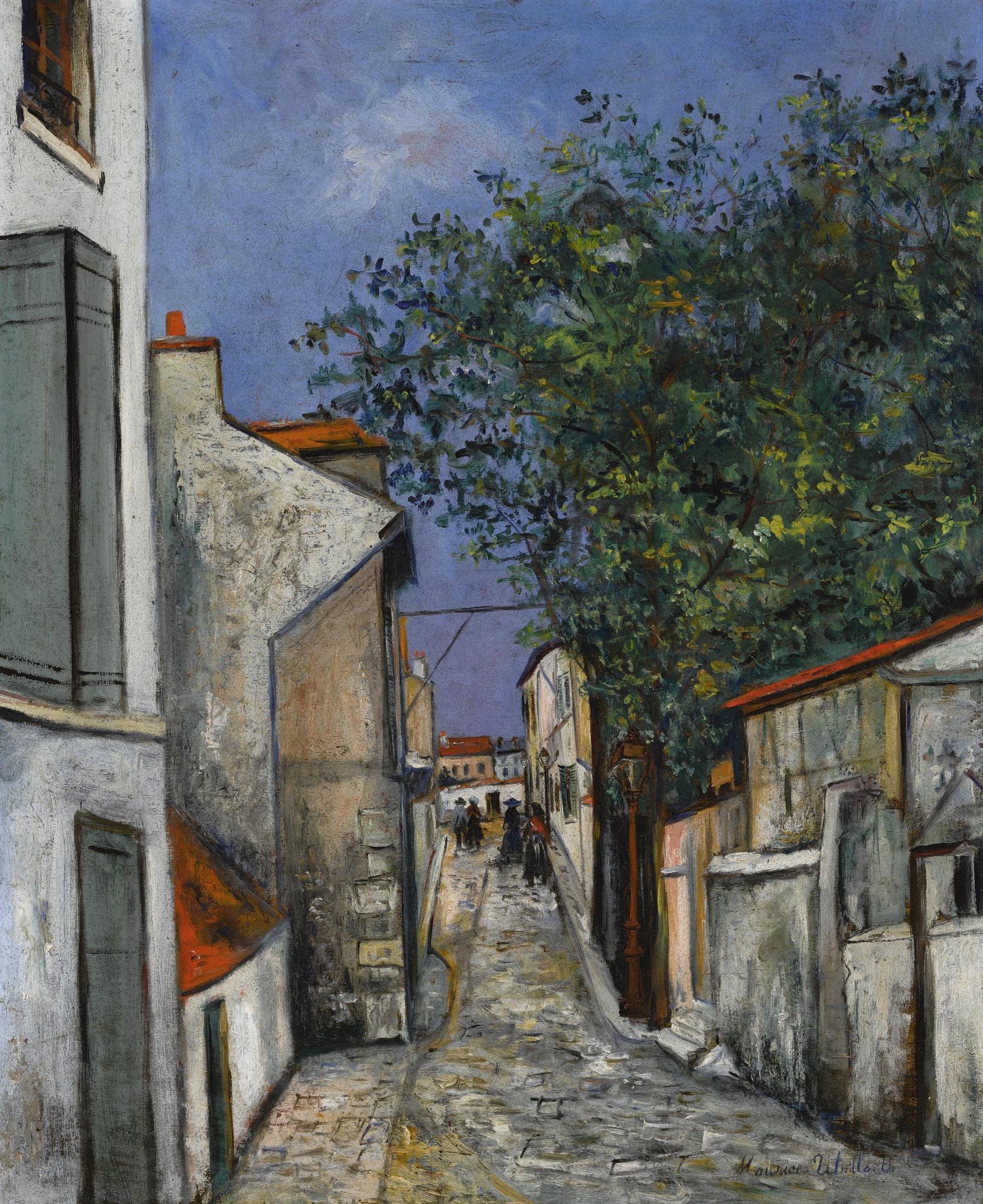 Maurice Utrillo-Rue De La Fontaine A Mulard-1925