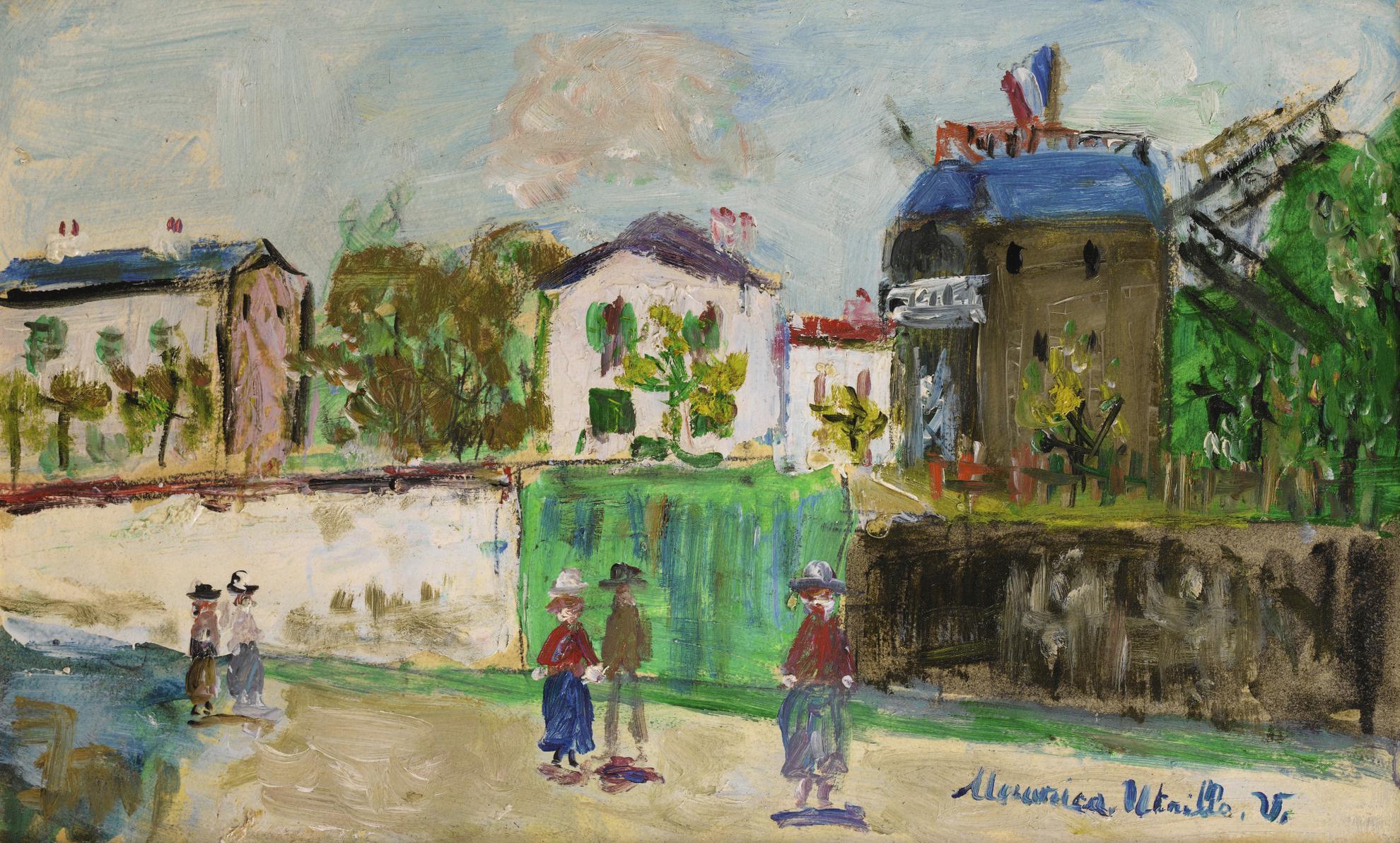 Maurice Utrillo-Moulin De La Galette A Montmartre-1955
