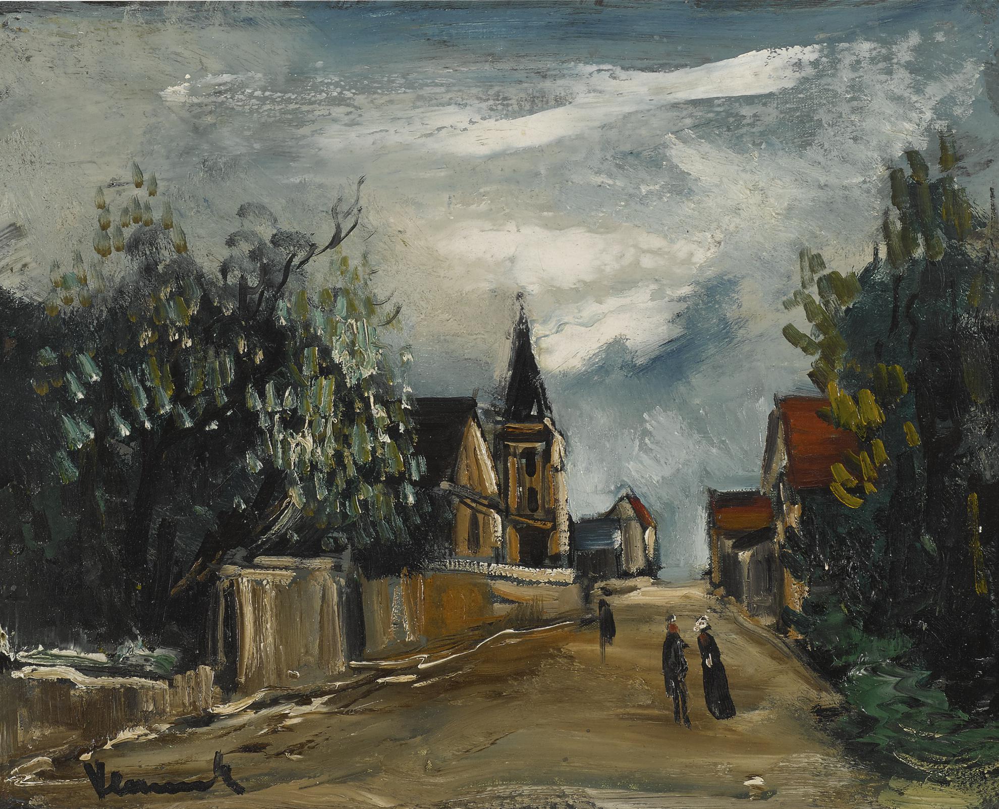 Maurice de Vlaminck-Environs De Chantilly-1919