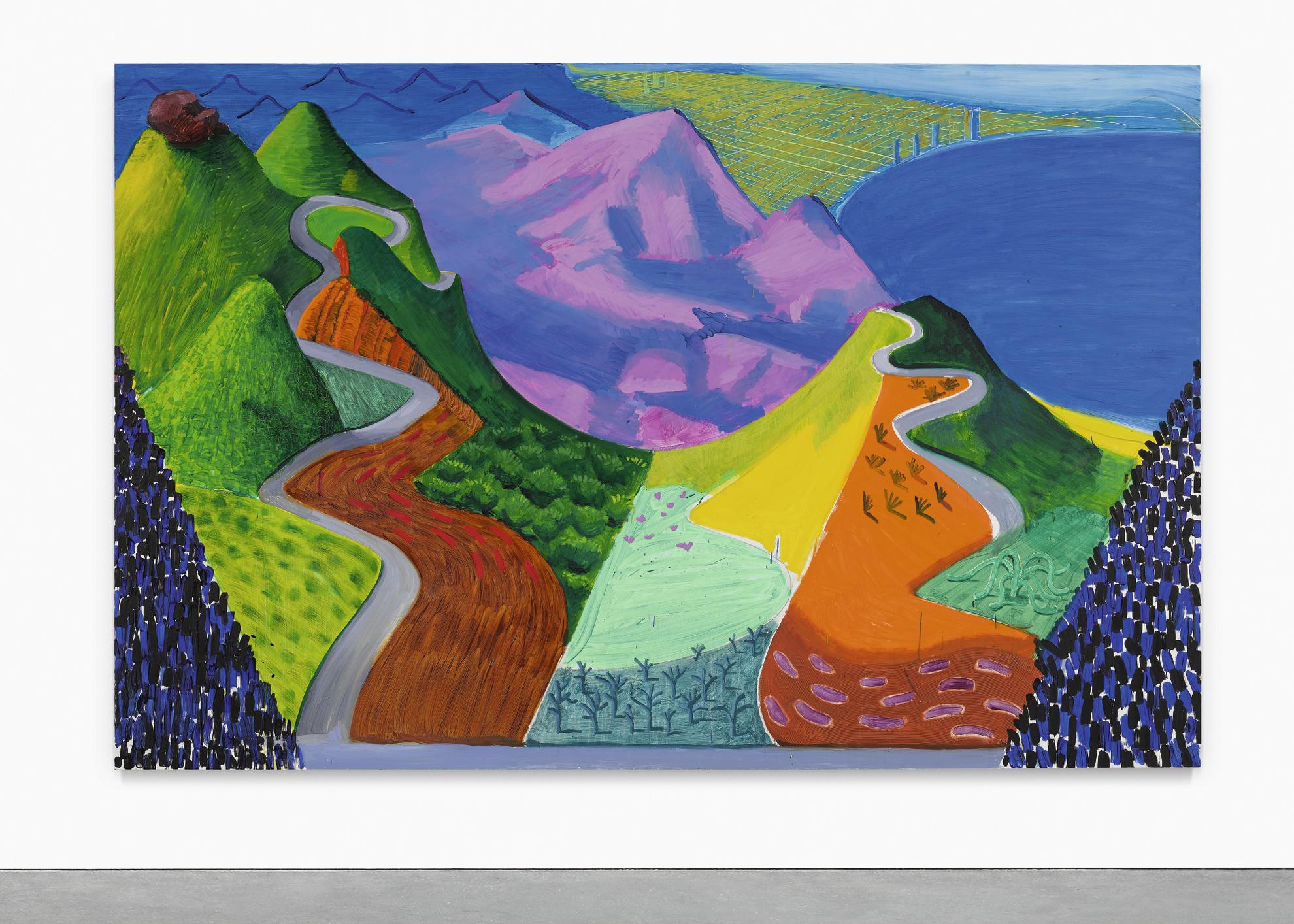 David Hockney-Pacific Coast Highway And Santa Monica-1990