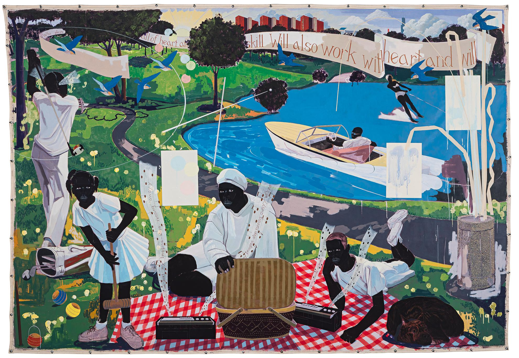 Kerry James Marshall-Past Times-1997