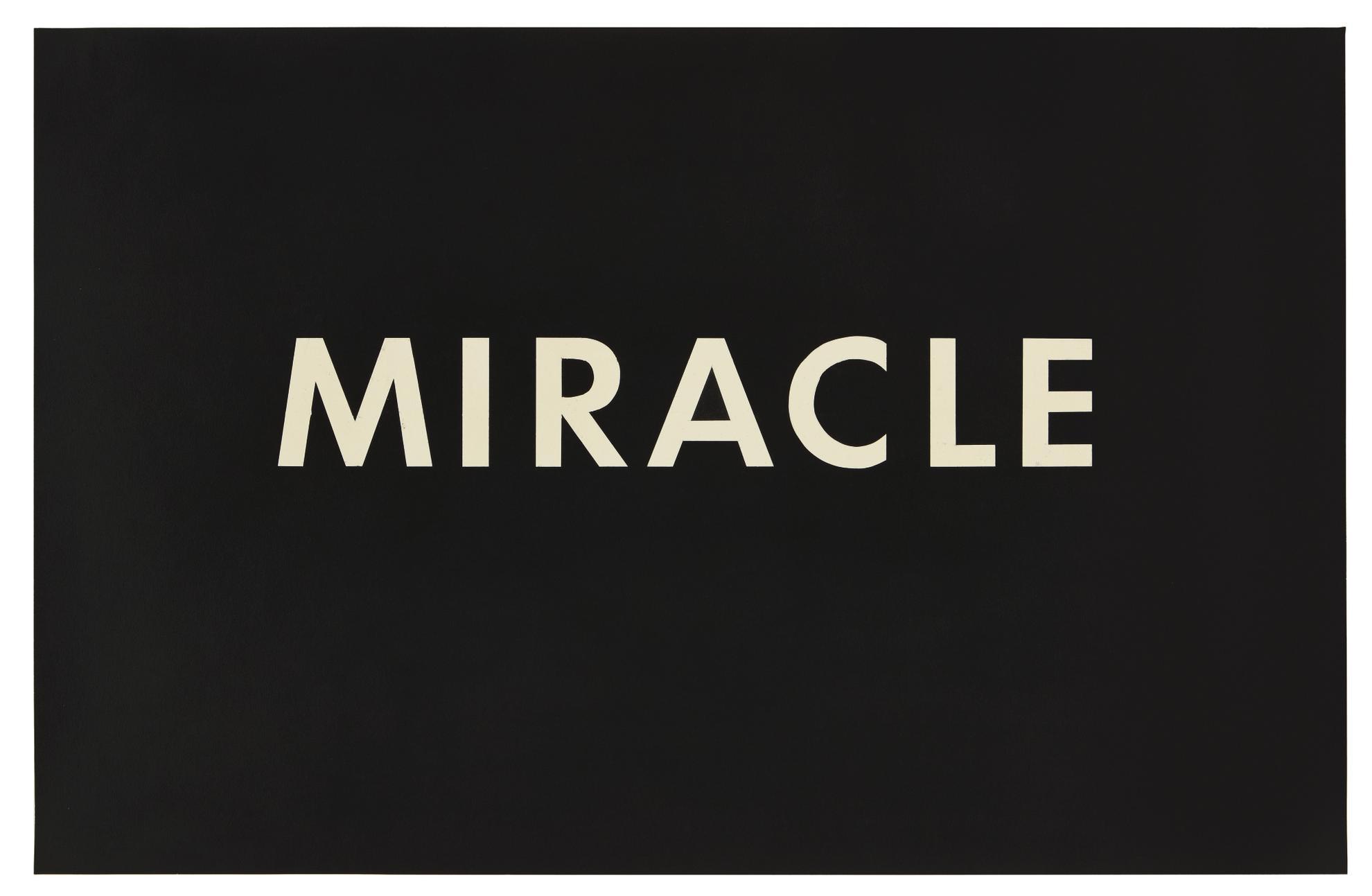 Ed Ruscha-Miracle-1975