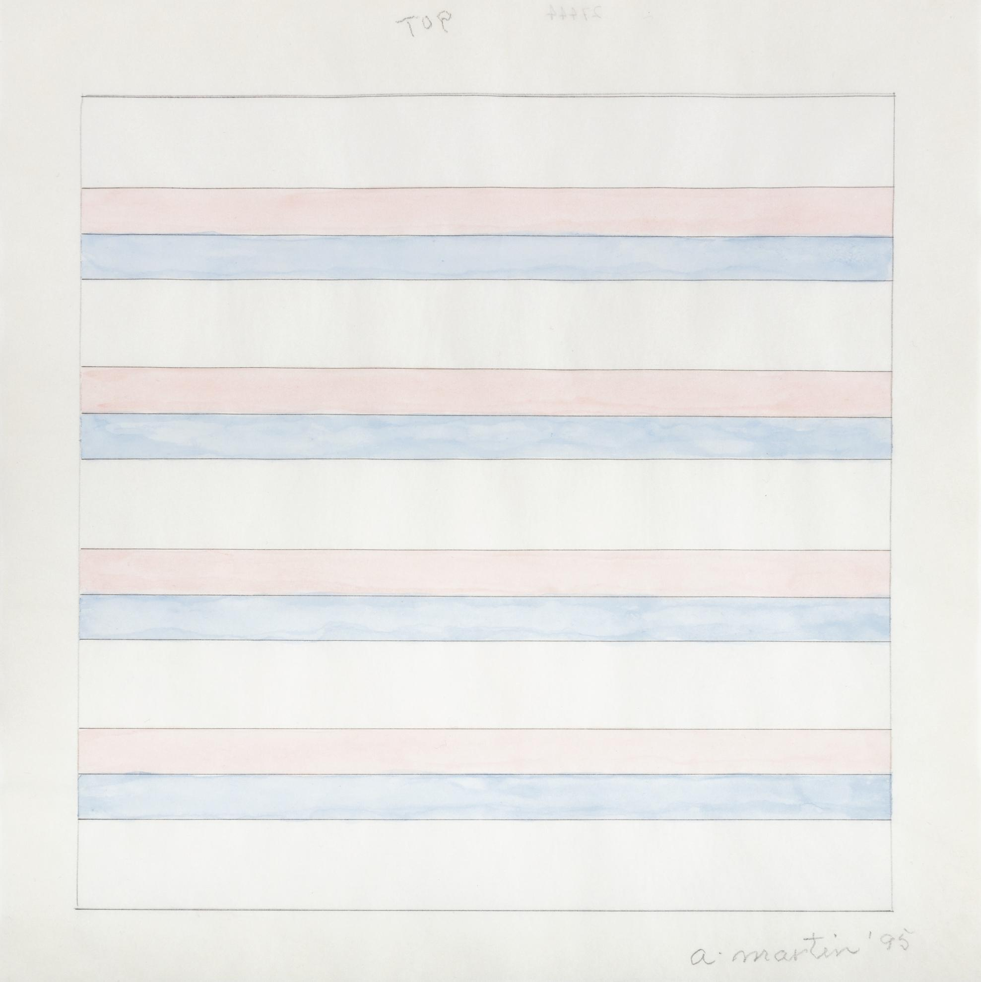 Agnes Martin-Untitled-1995