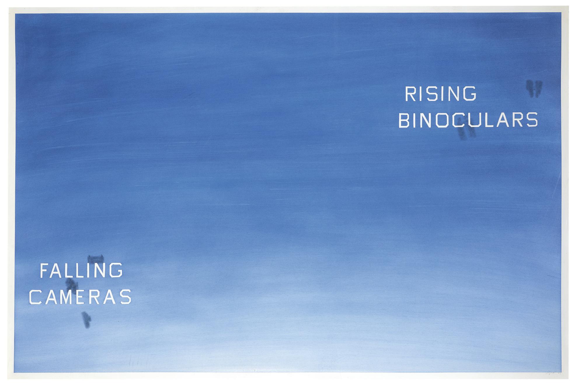 Ed Ruscha-Falling Cameras; Rising Binoculars-1982