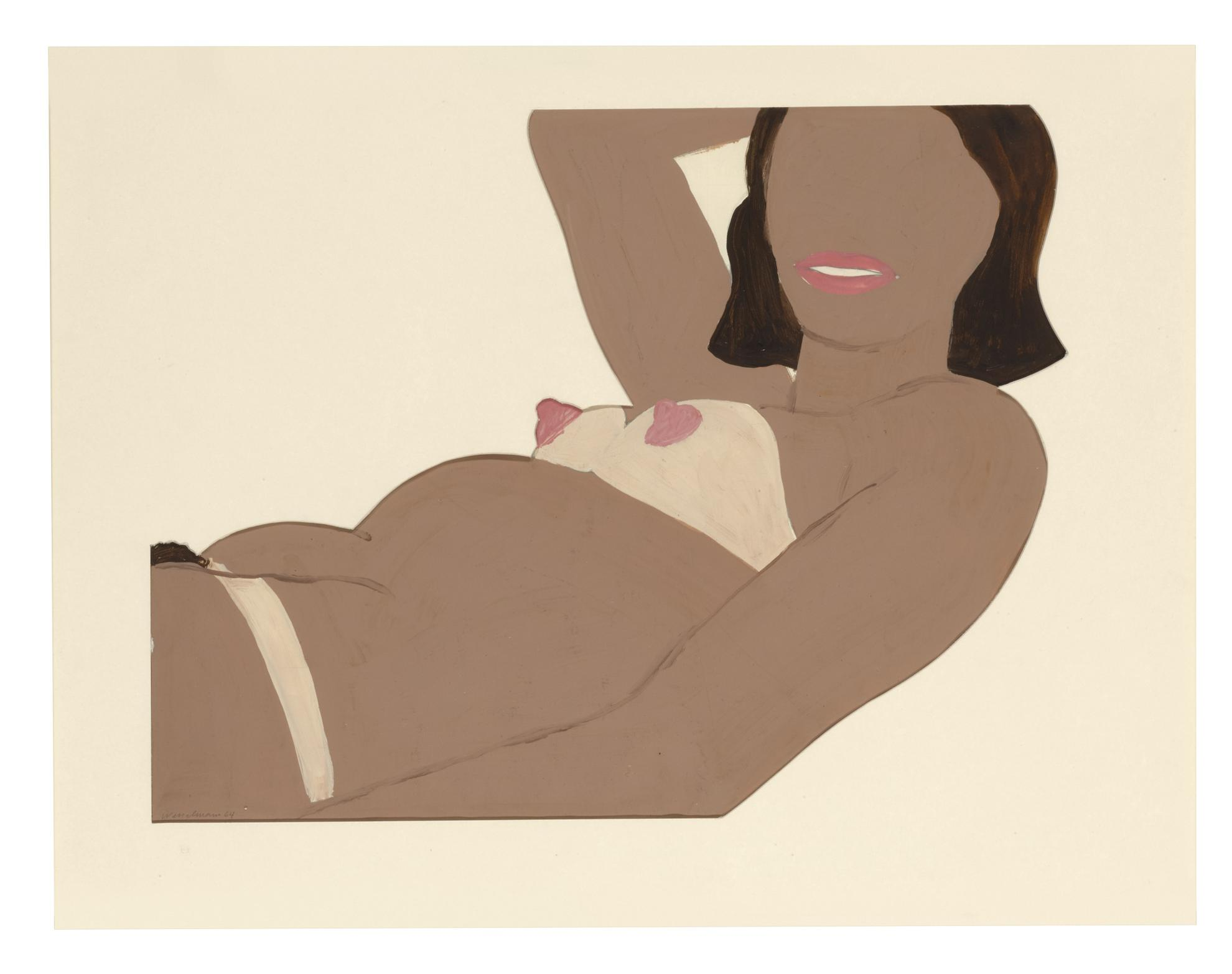Tom Wesselmann-Study For Great American Nude #57-1964