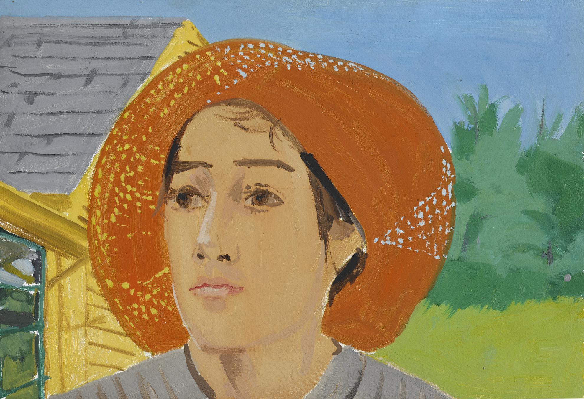 Alex Katz-Orange Hat I-1973
