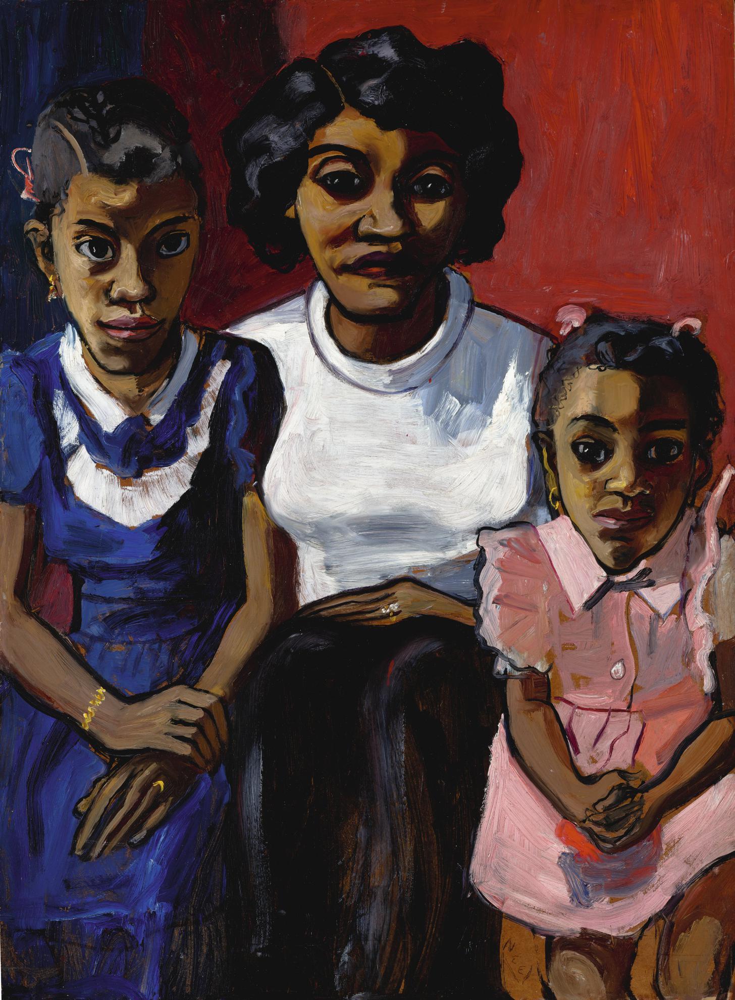 Alice Neel-Black Spanish-American Family-1950