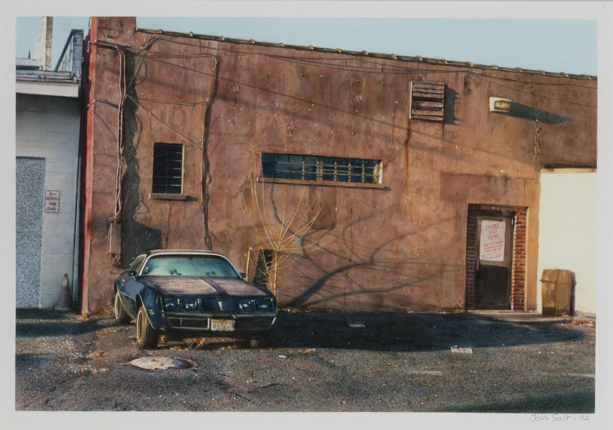 John Salt-Untitled (Orange Wall)-2002