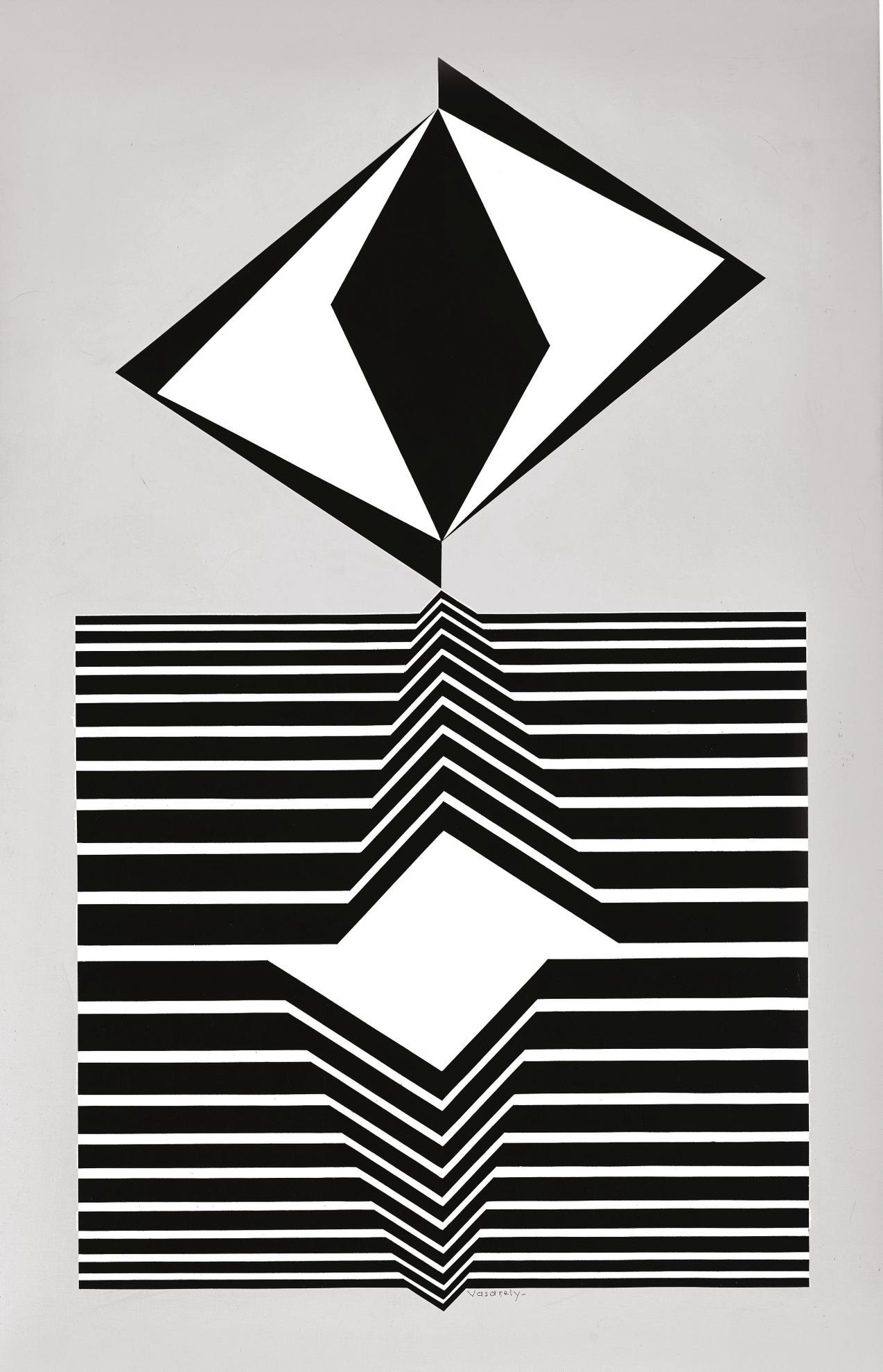 Victor Vasarely-Hazay-A-1992