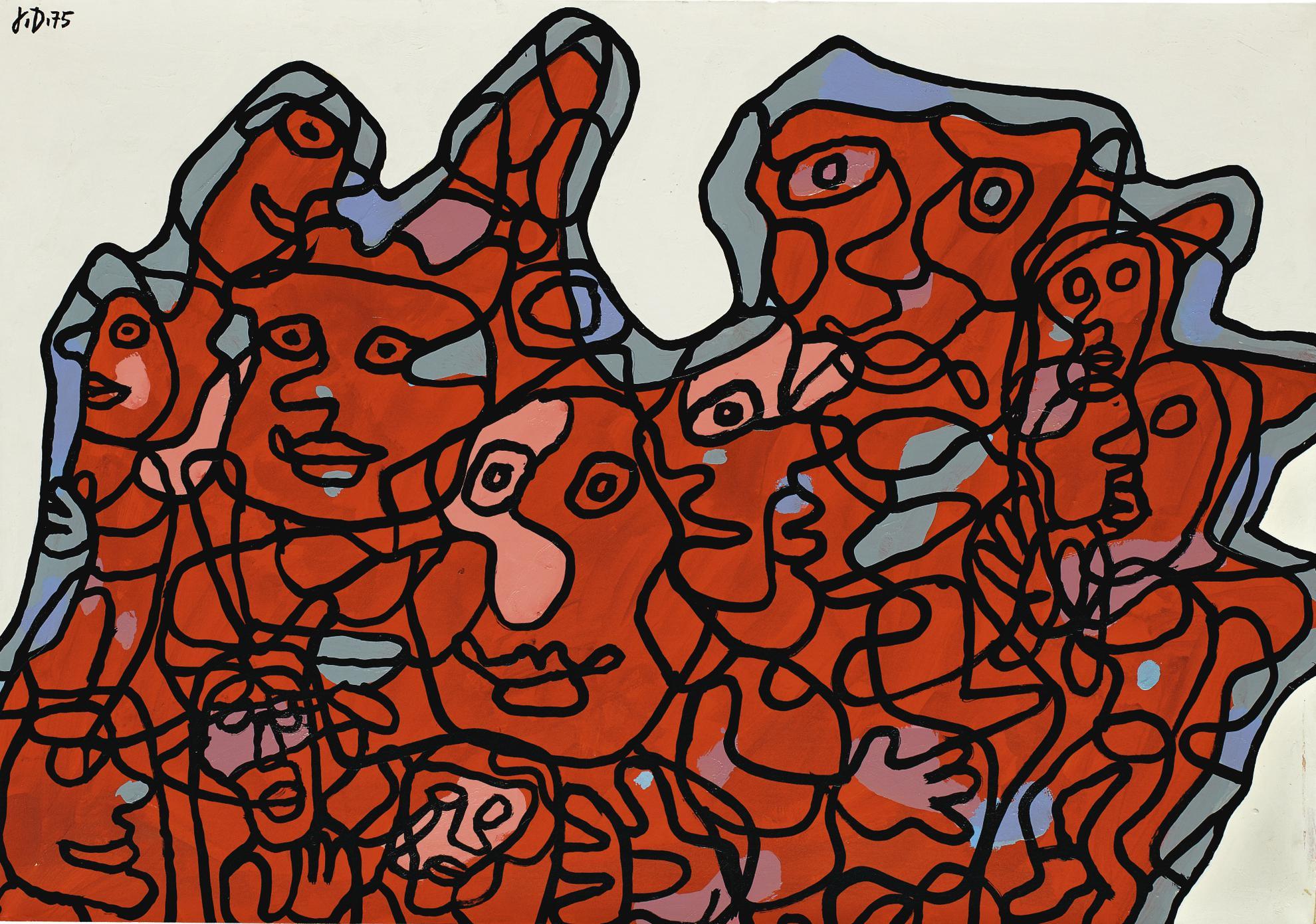 Jean Dubuffet-Mondanite XX-1975