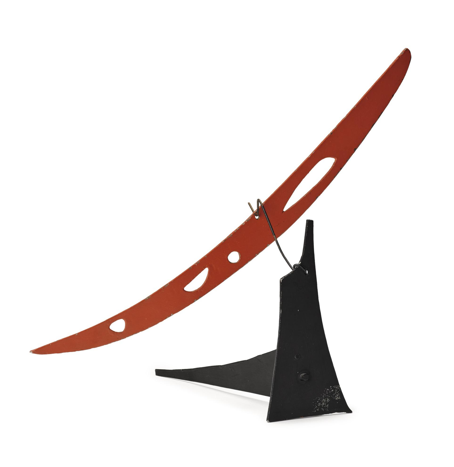 Alexander Calder-Red Boomerang With Four Holes-1975