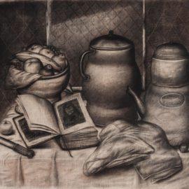 Fernando Botero-Naturaleza Muerta Con Cafetera Y Frutero-1973