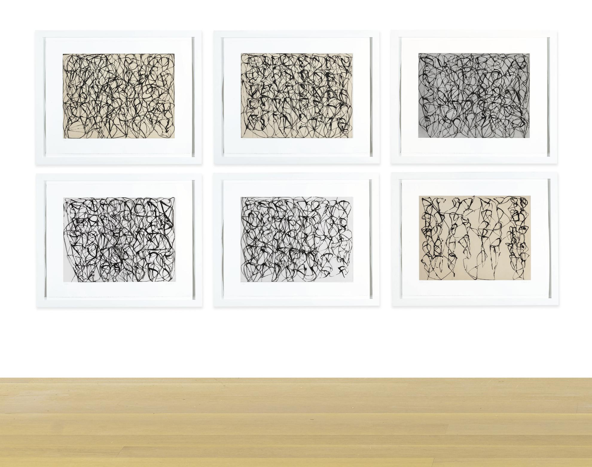 Brice Marden-Cold Mountain Series, Zen Study 1-6-1991