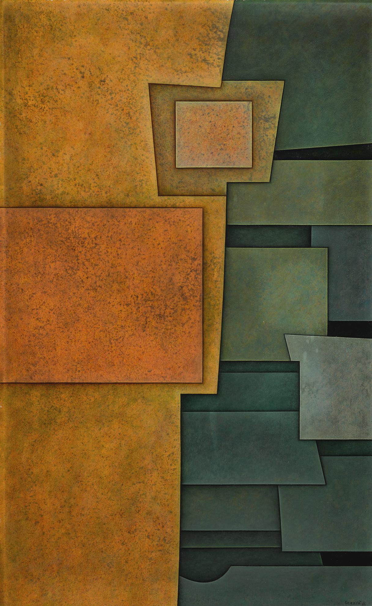 Gunther Gerzso-Naranja-Verde-1966