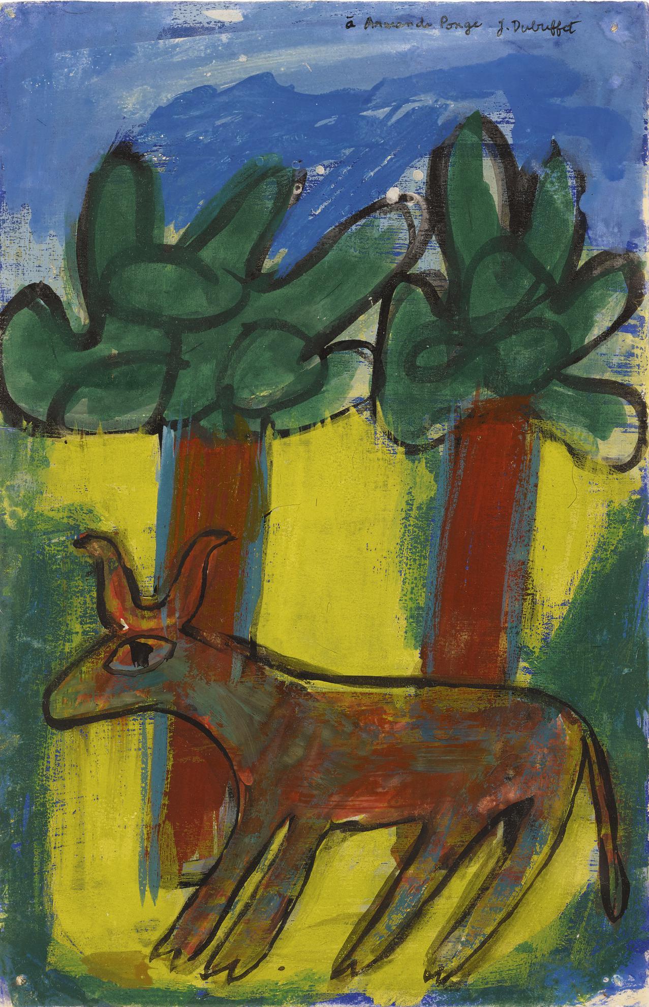 Jean Dubuffet-Vache Aux Deux Arbres-1943