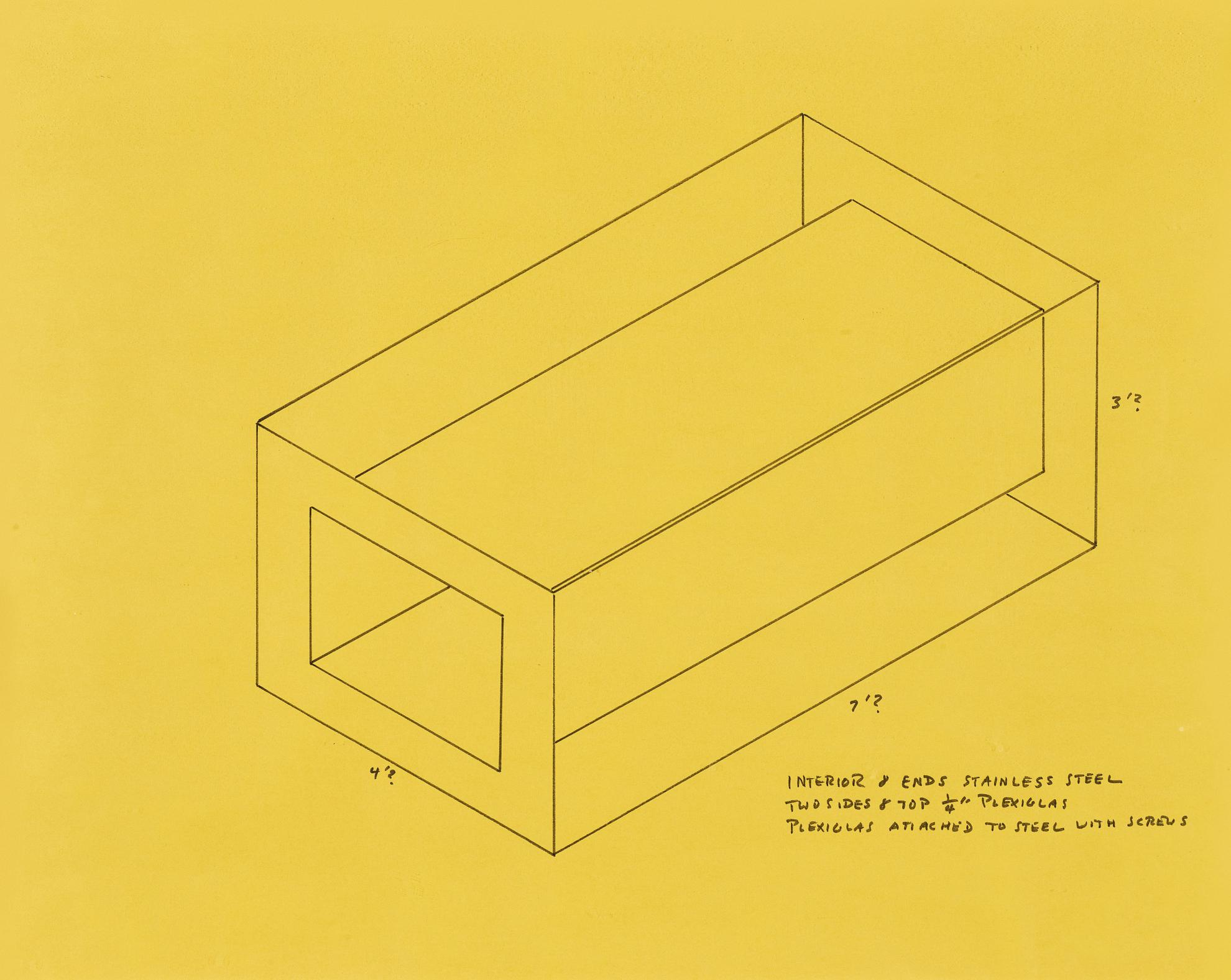 Donald Judd-Untitled (Drawing For 1968 Whitney Piece)-1968