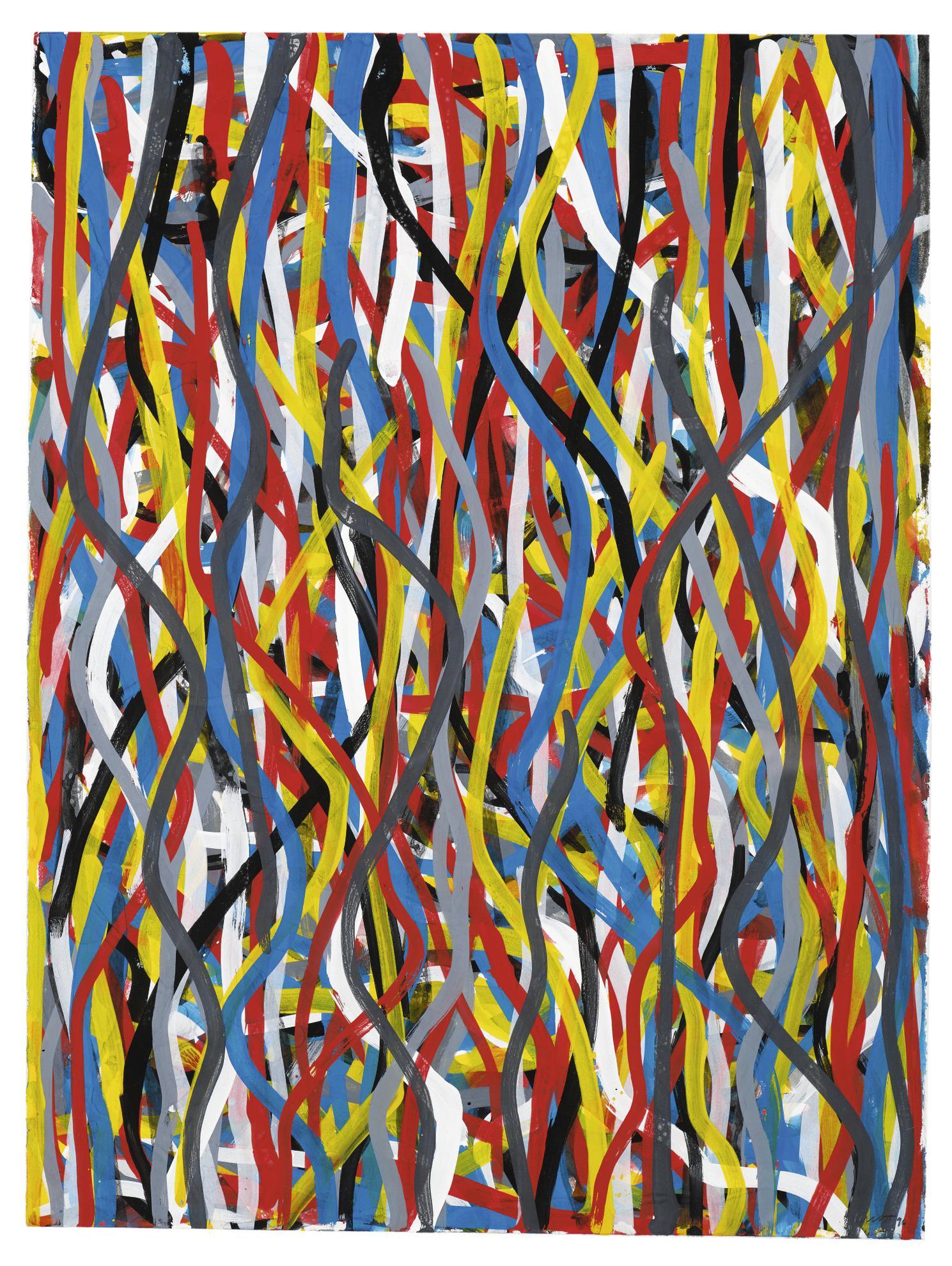Sol LeWitt-Wavy Brushstrokes-1996