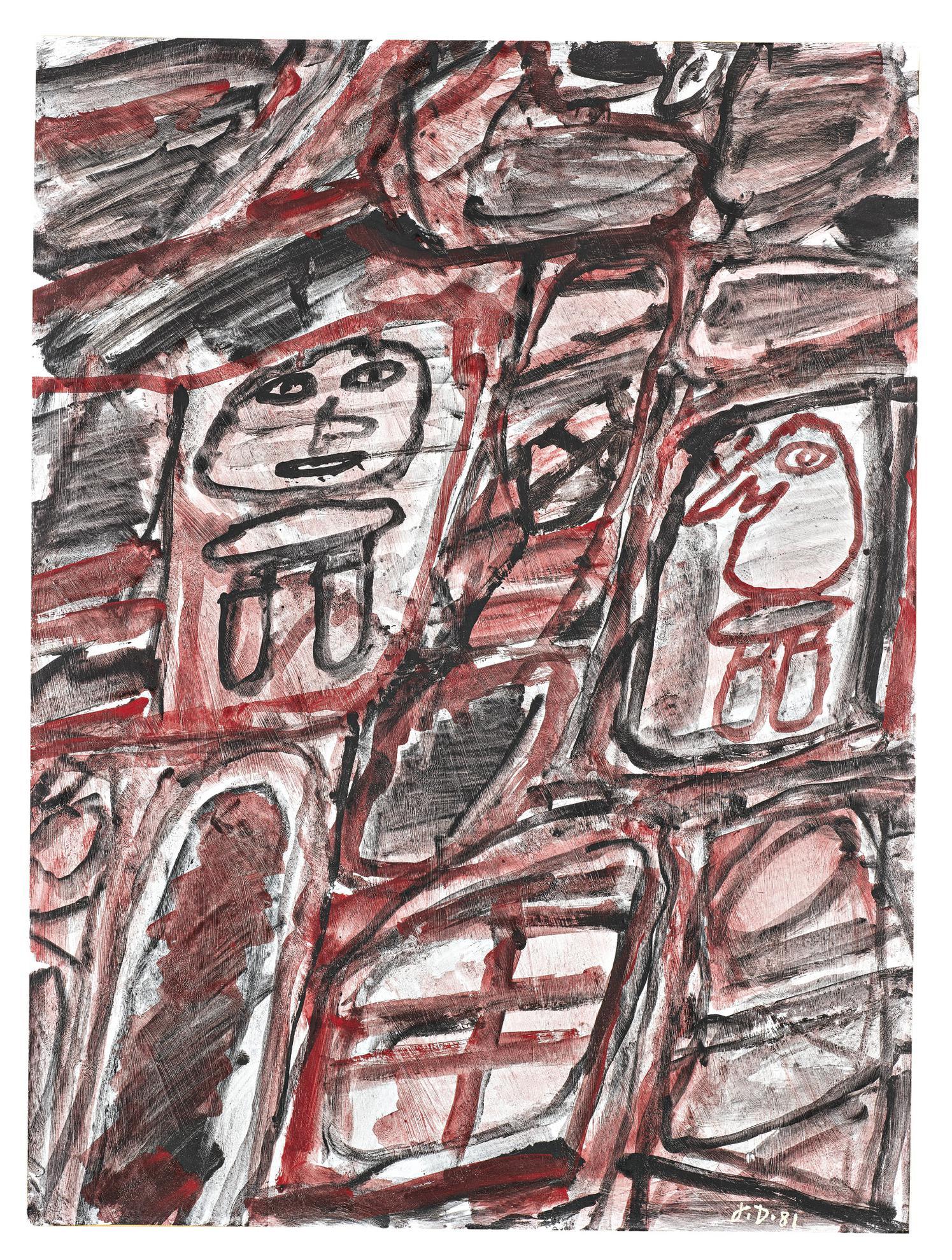 Jean Dubuffet-Site Avec Deux Personnages-1981