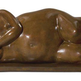 Fernando Botero-Reclining Figure (La France)-1985