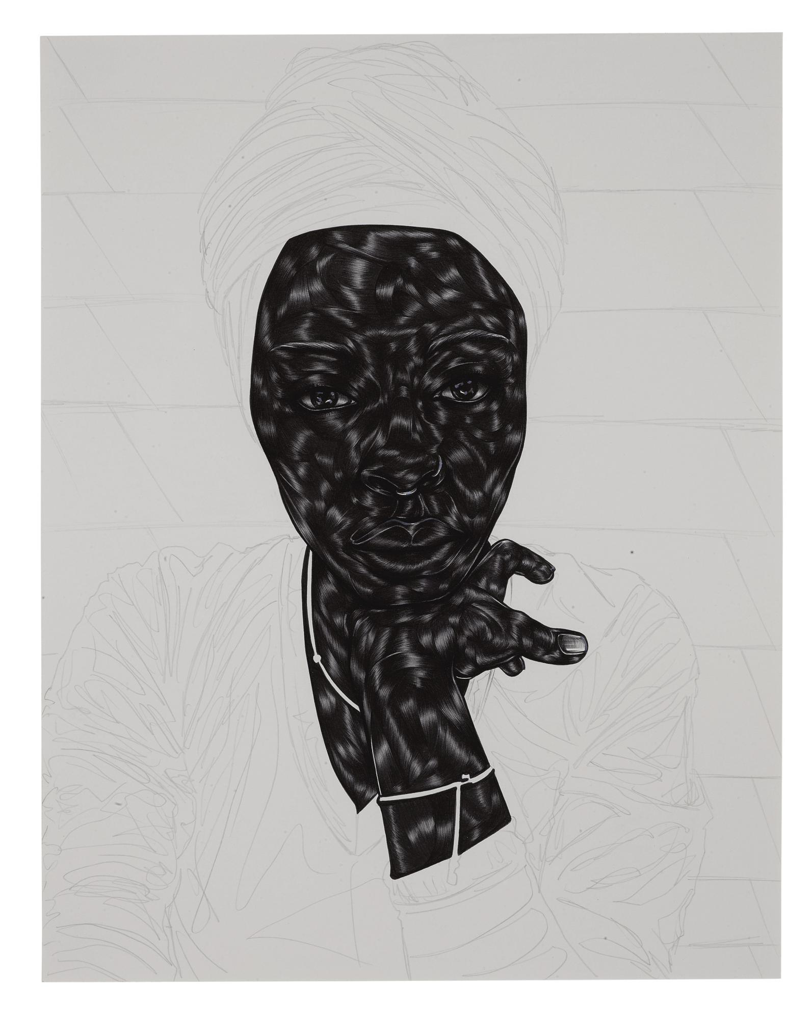 Toyin Ojih Odutola - From A Place Of Goodness-2018