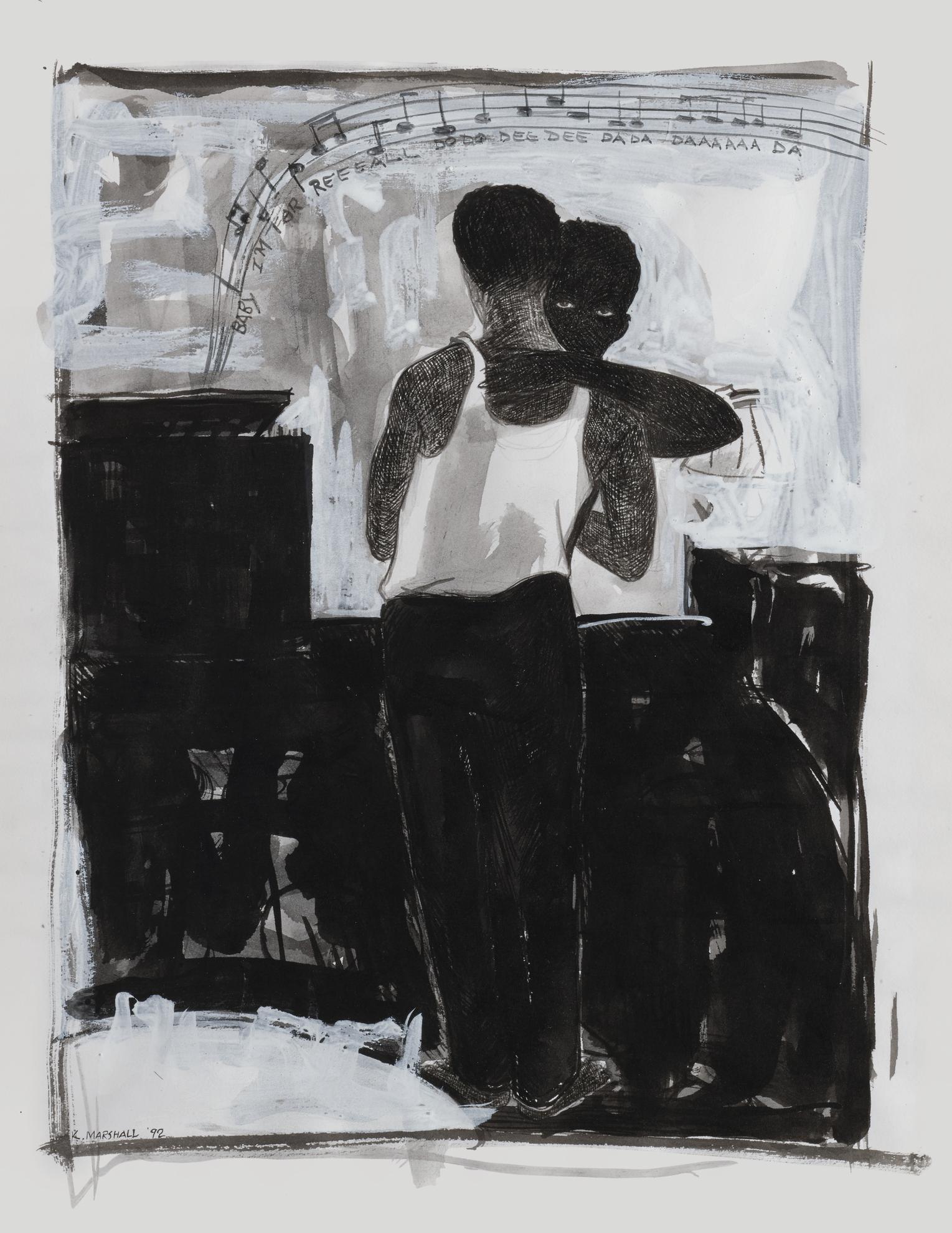 Kerry James Marshall-Study For Slow Dance-1992