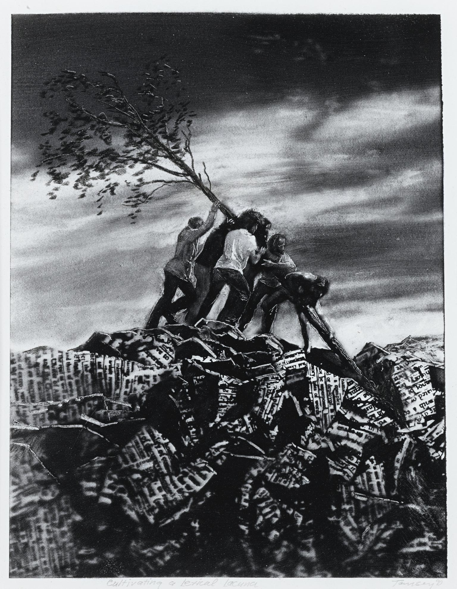 Mark Tansey-Cultivating A Lexical Lacuna-1990