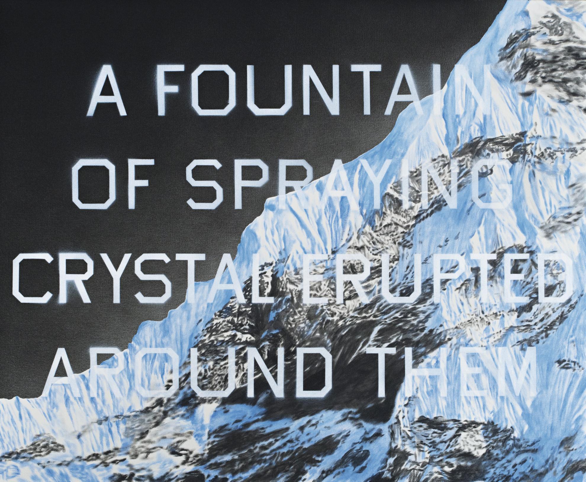 Ed Ruscha-Fountain Of Crystal-2009