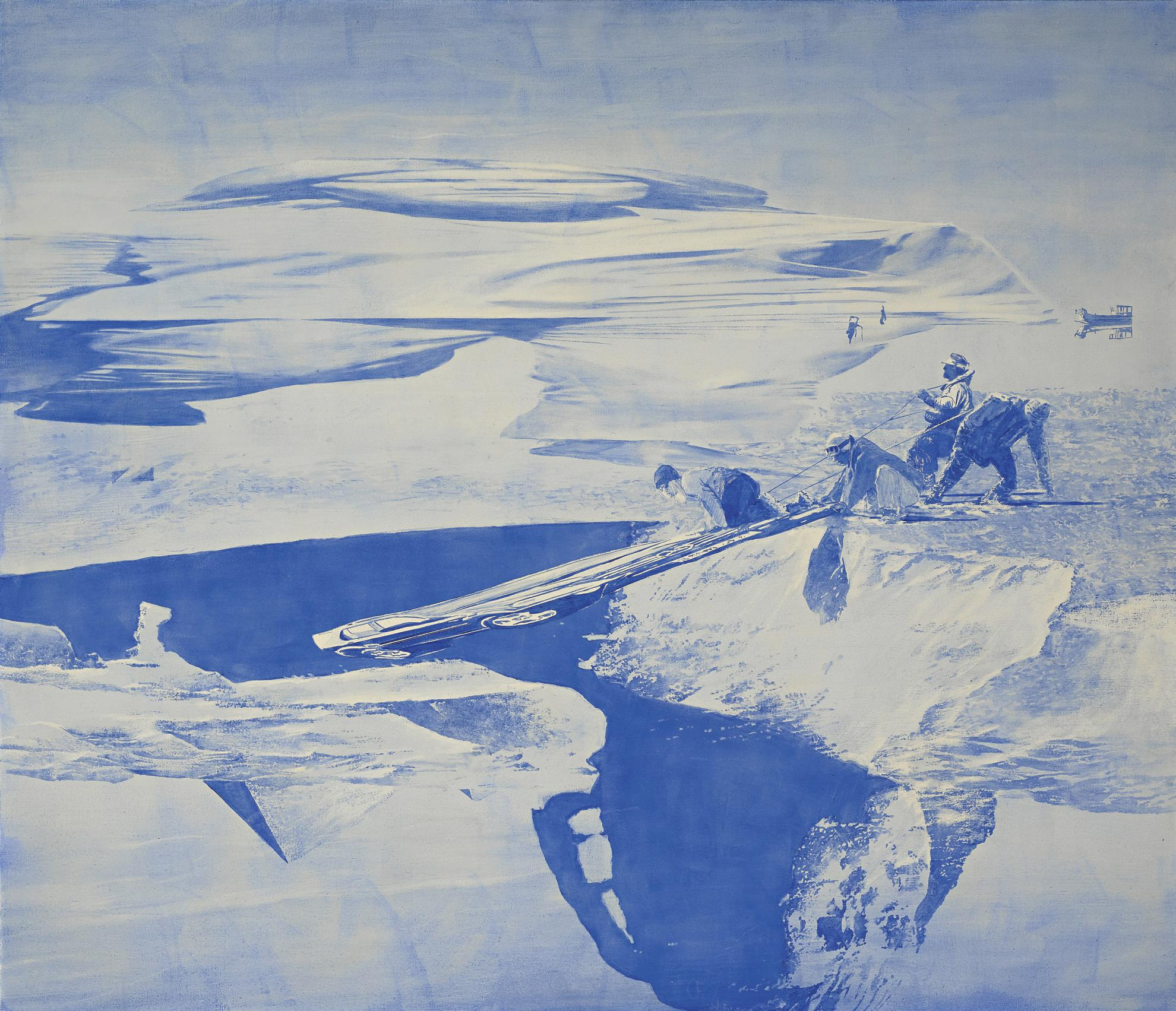 Mark Tansey-Study For Push/Pull-2003