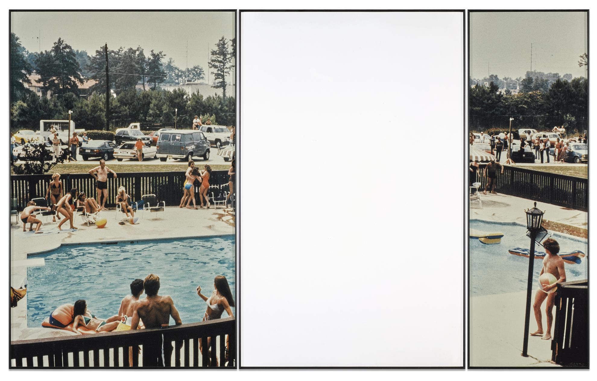 John Baldessari-Hidden (With Onlookers And Swimming Pool)-1990