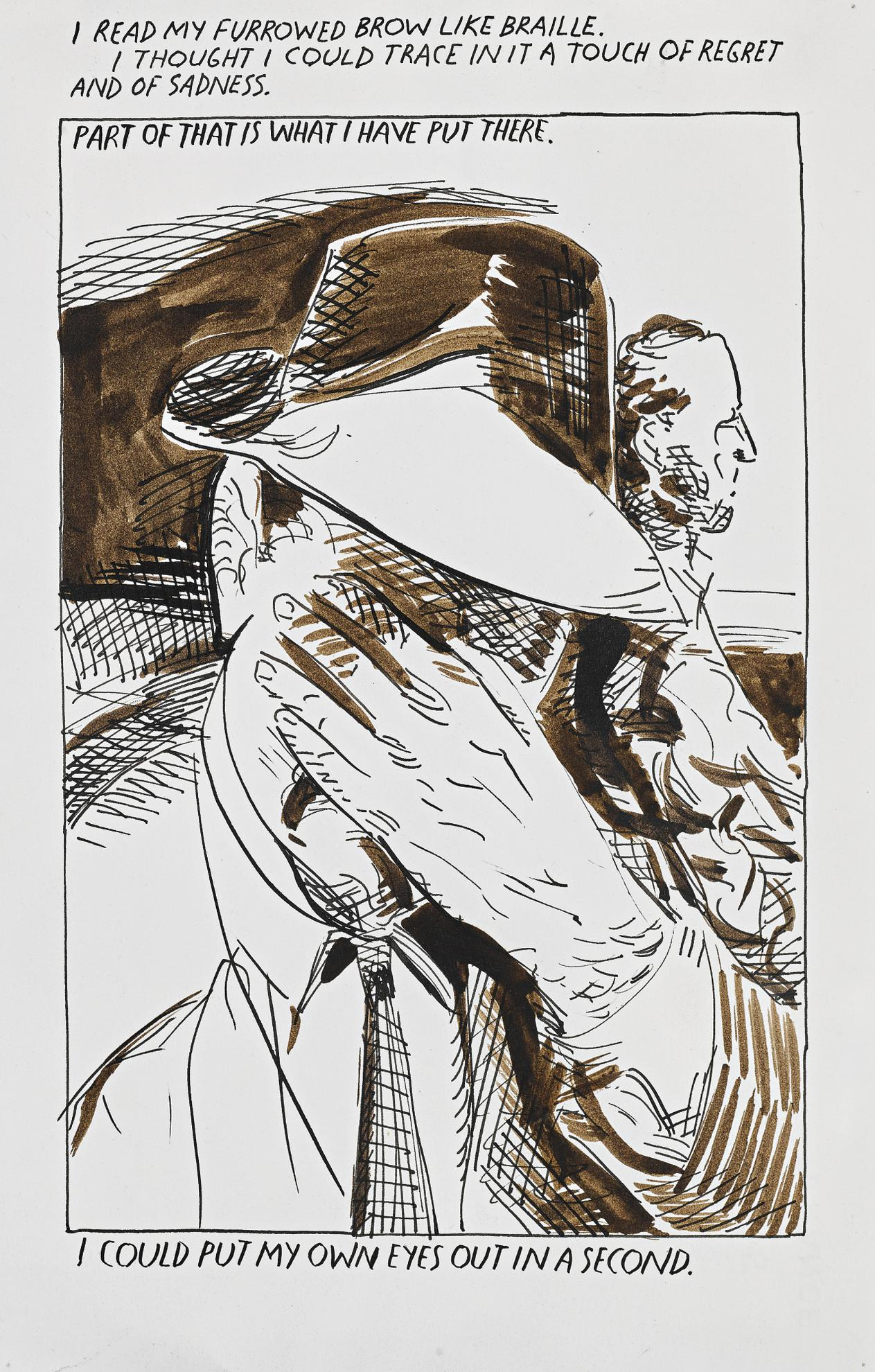 Raymond Pettibon-Untitled (I Read My...)-1990