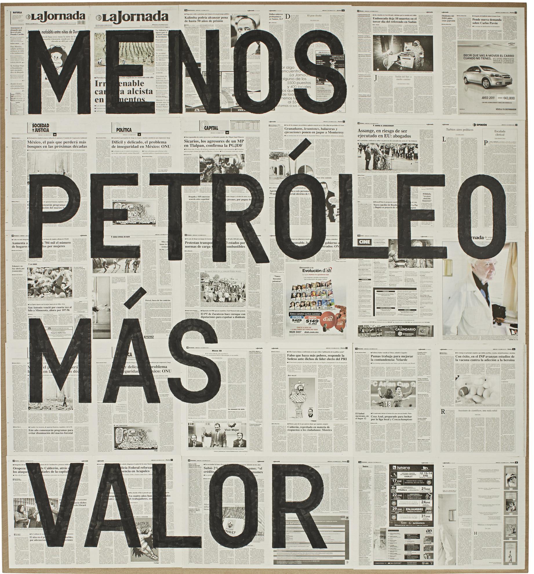 Rirkrit Tiravanija-Untitled (Menos Petroleo Mas Valor / 12 De Enero De 2011)-2011