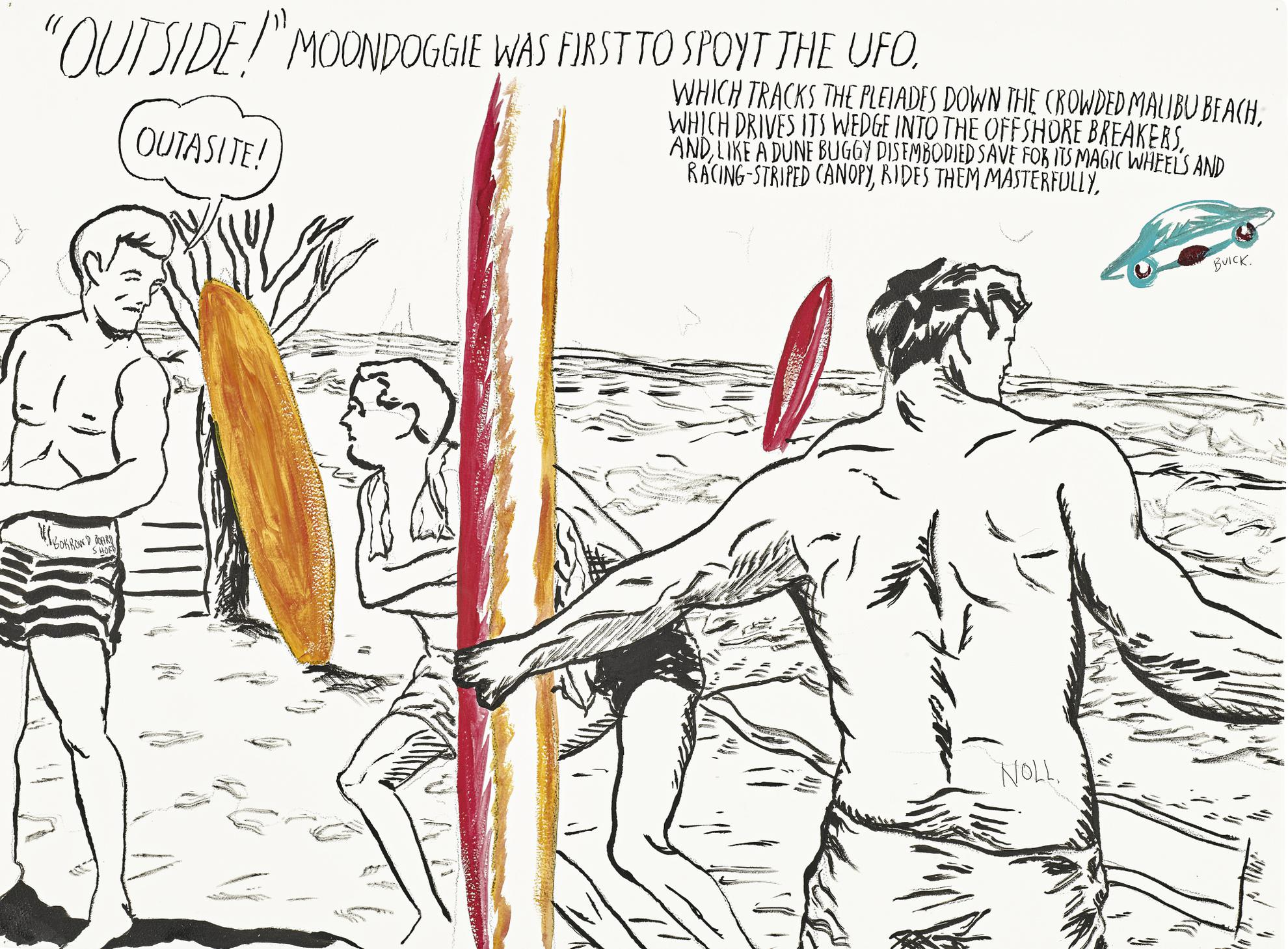 Raymond Pettibon-No Title (Outside! Moondoggie Was...)-2013