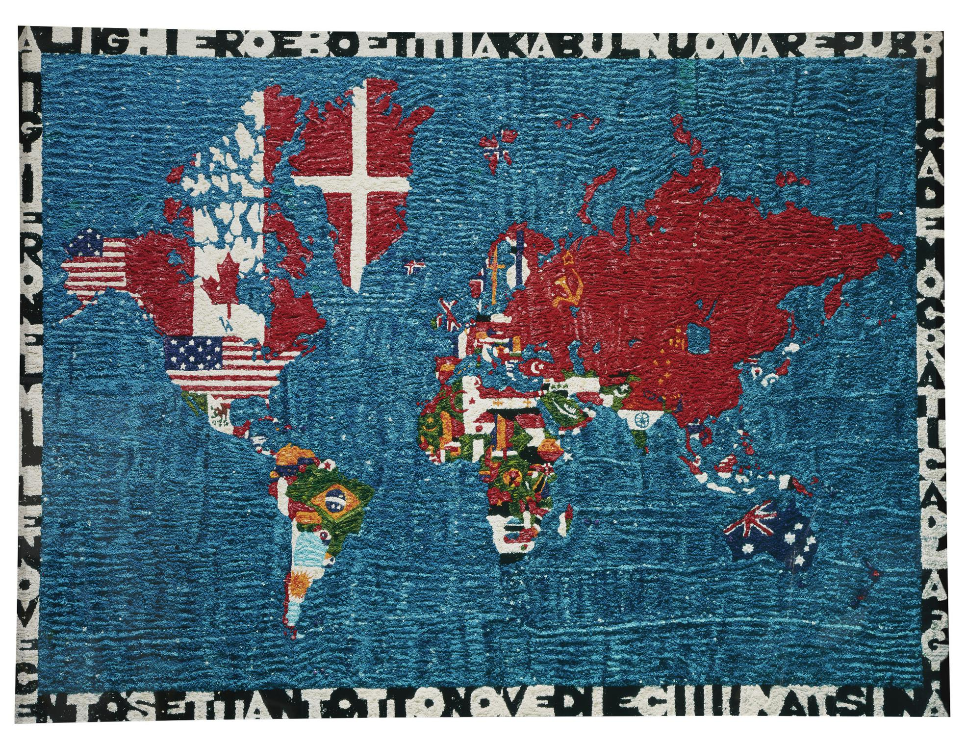 Vik Muniz-Pictures Of Pigment: Mappa Del Mondo, After Alighiero Boetti-2009