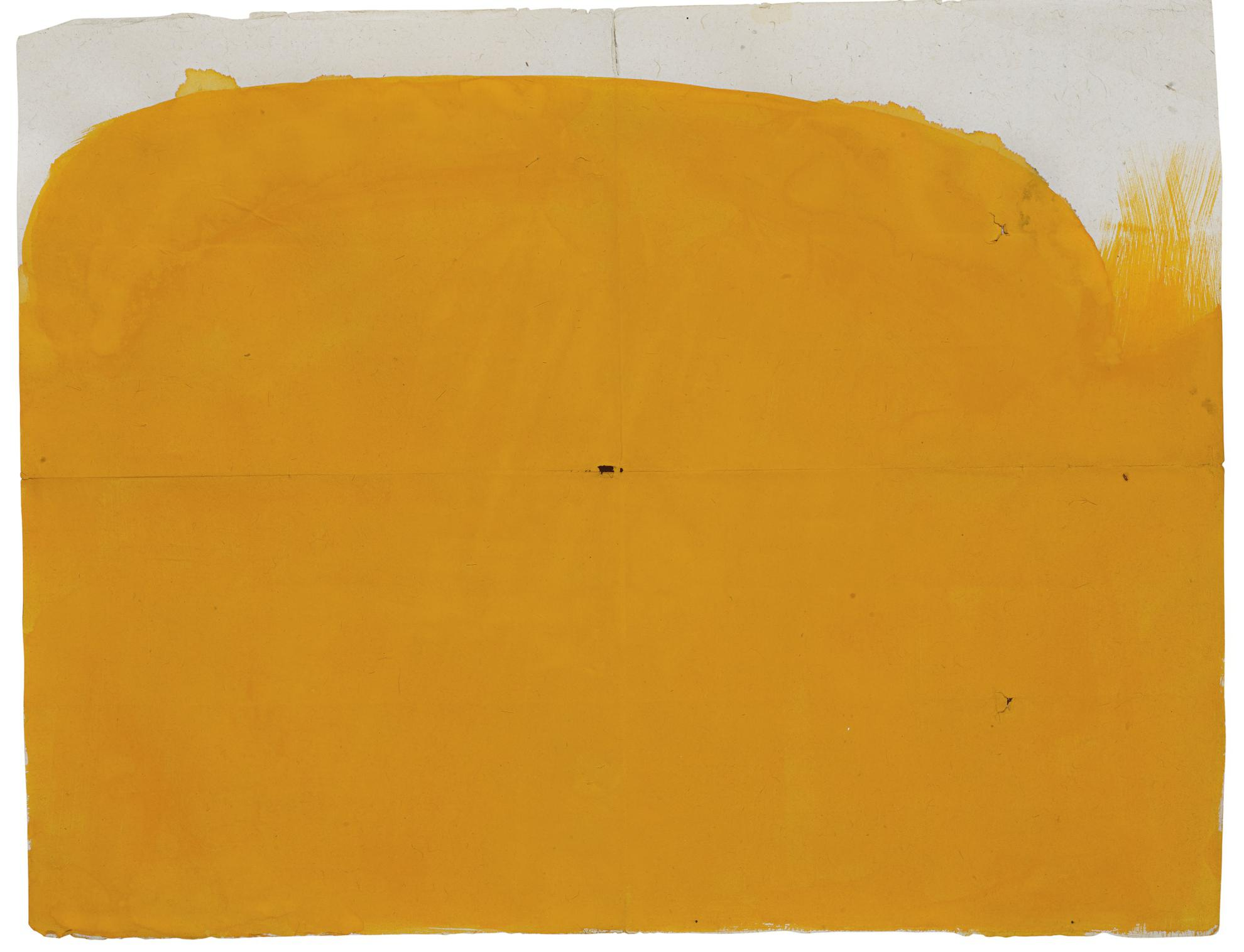 Suzan Frecon-Yellow-Orange On More Conventional Format With 3 Holes-2012