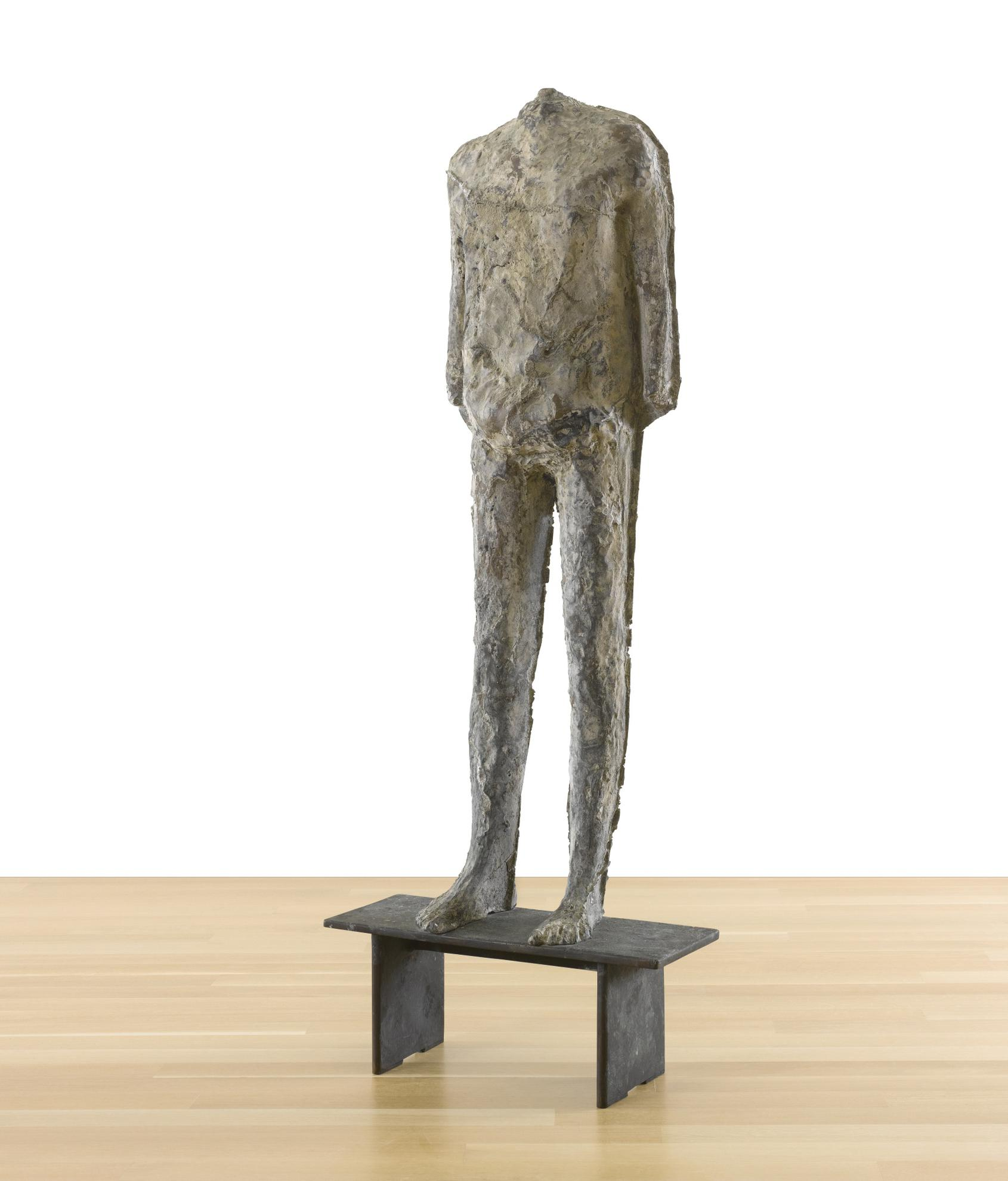 Magdalena Abakanowicz-Second Rupture Figure (On Bench)-1989