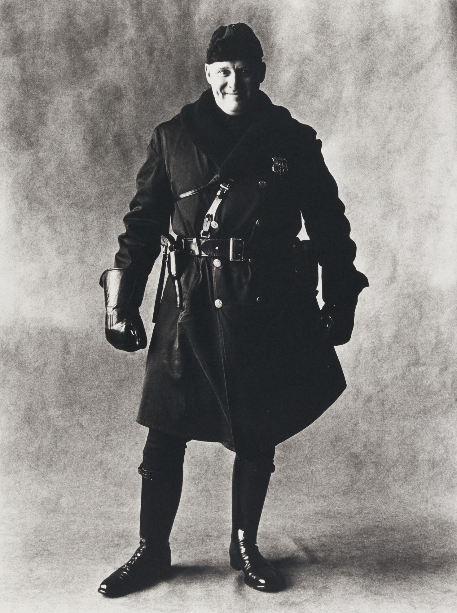 Irving Penn-Motorcycle Policeman, New York-1951