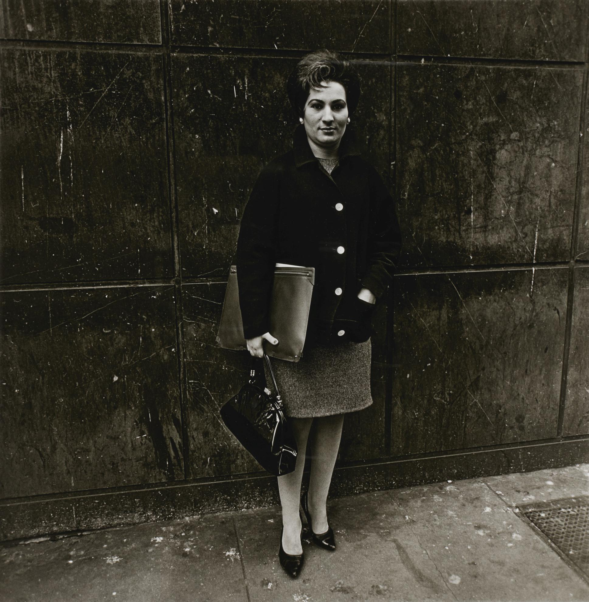 Diane Arbus-Woman With A Briefcase And Pocketbook, Nyc-1962