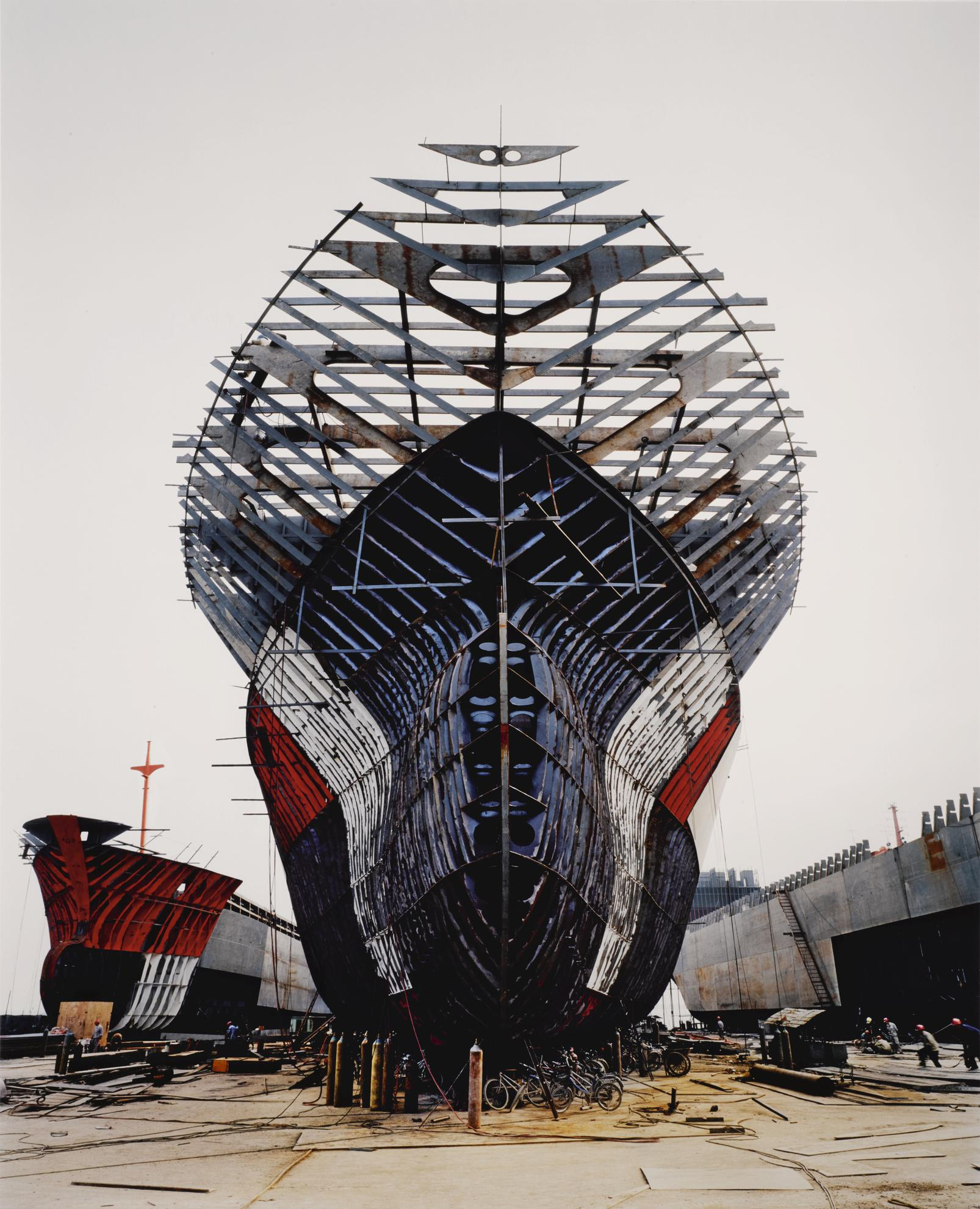 Edward Burtynsky-Shipyard #11, Qili Port, Zhejiang Province, China-2005