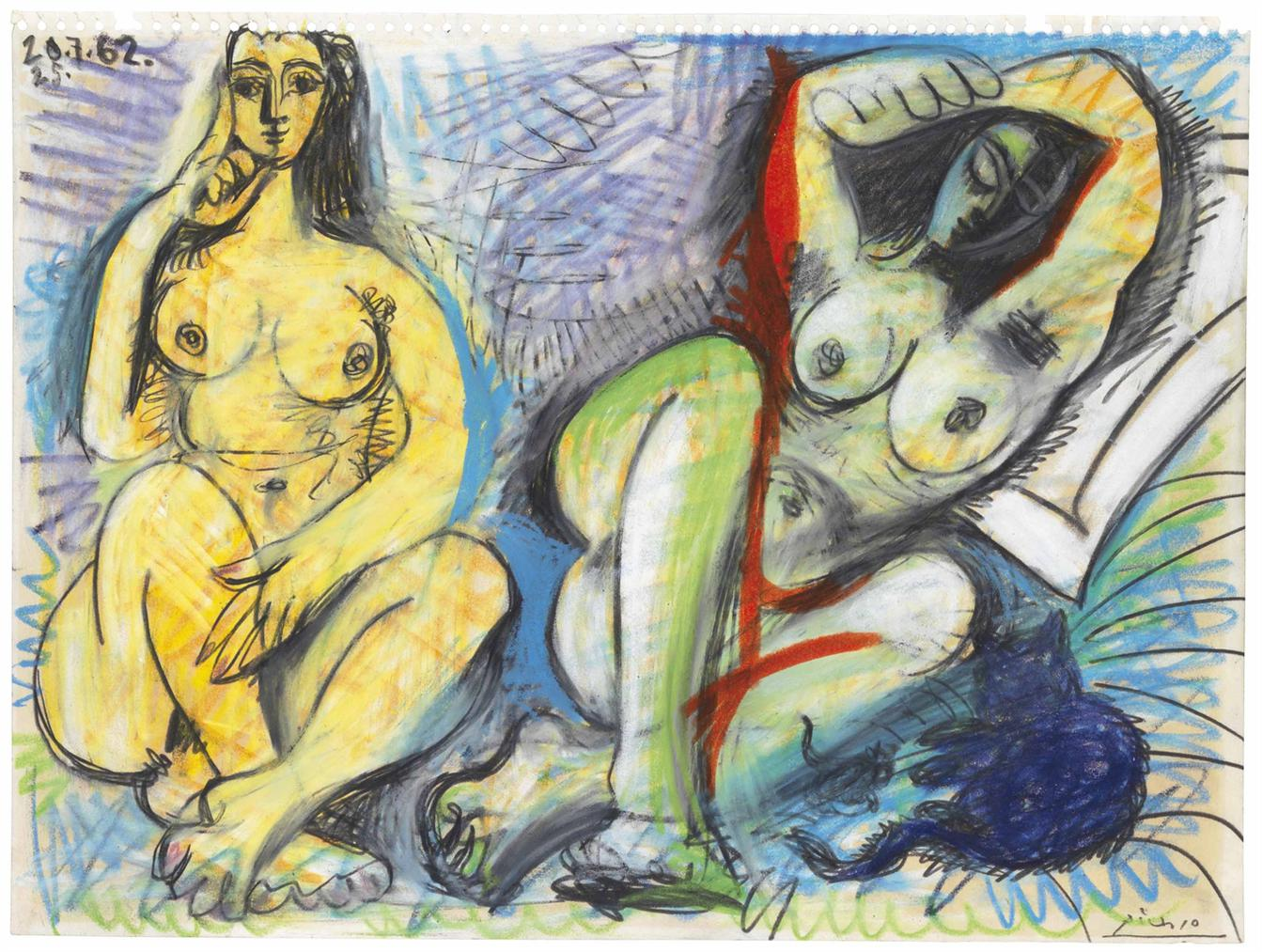 Pablo Picasso-Deux Nus-1962