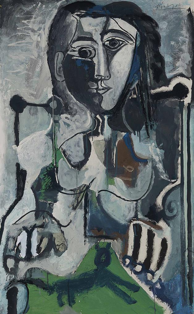 Pablo Picasso-Femme Au Chat Assise Dans Un Fauteuil-1964