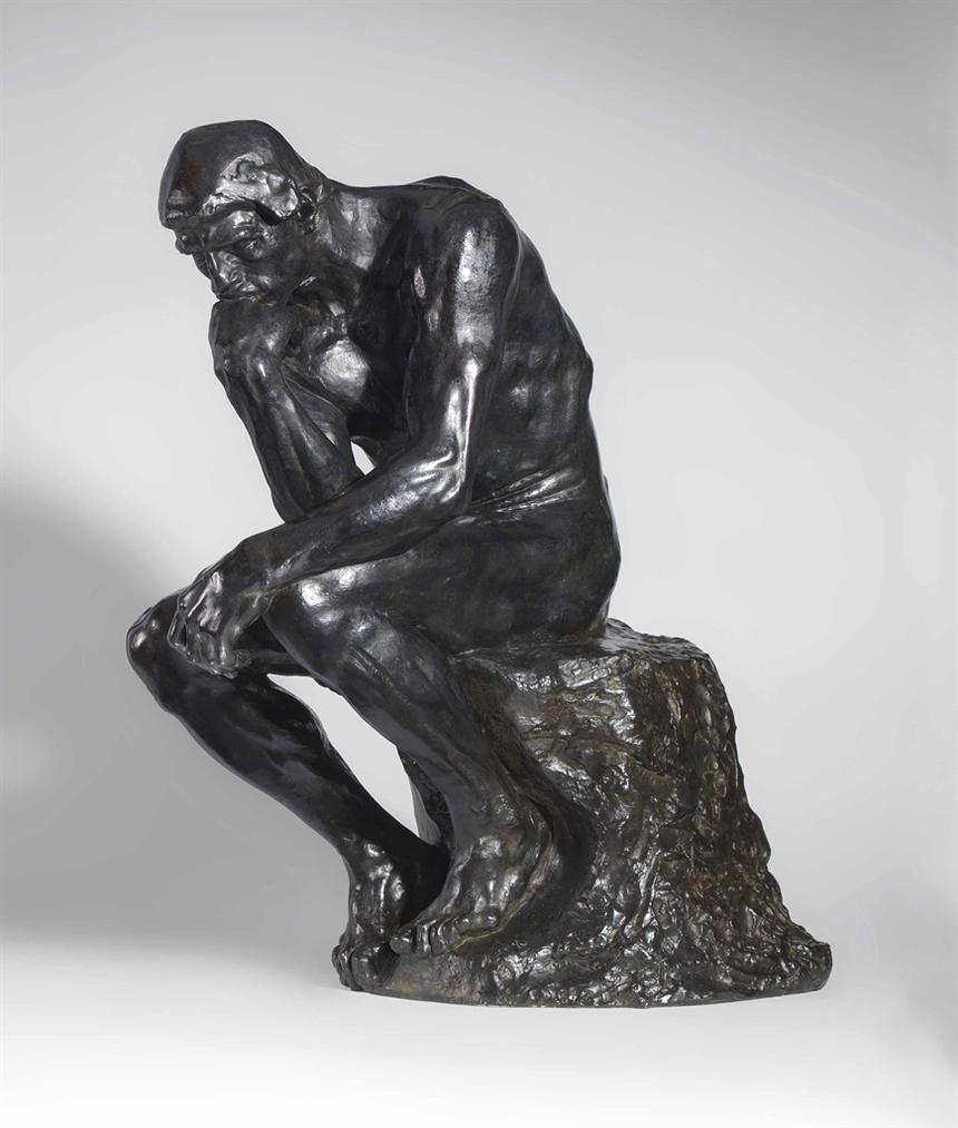Auguste Rodin-Le Penseur, Taille De La Porte Dit Moyen Modele-1924